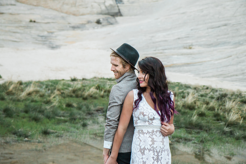 Desert oasis adventure elopement wedding pictures Kyle Loves Tori Photography