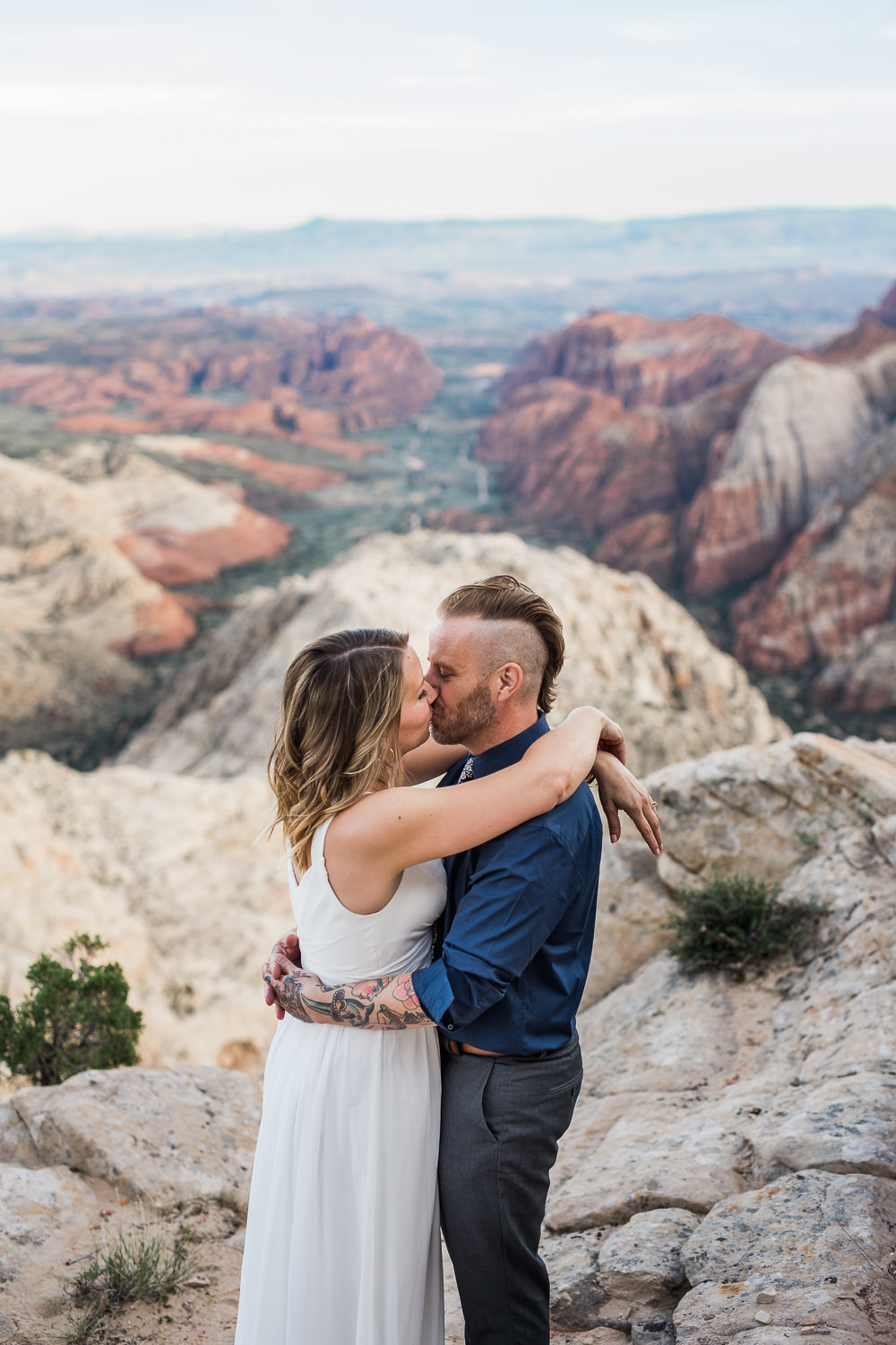 Epic cliffside vow renewal near Zion National Park in Southern Utah