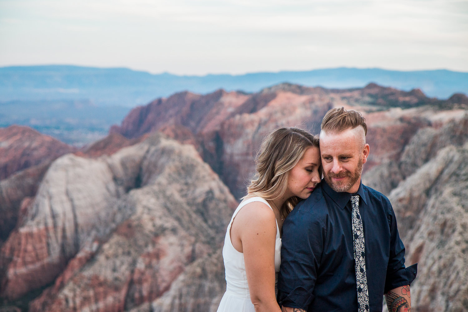 Intimate vow renewal couple imagery epic scenery Kyle and Tori Sheppard