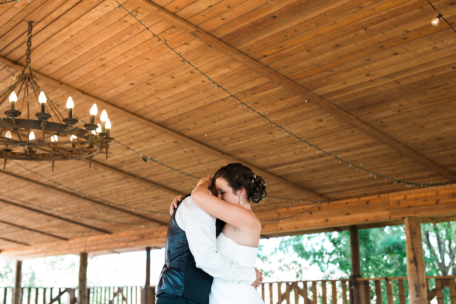 Bride and Groom embrace after first look during adventure wedding in St. George, Utah