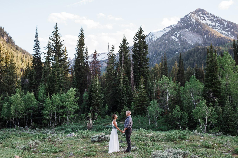 Mountain vow renewal Big Cottonwood Canyon Utah