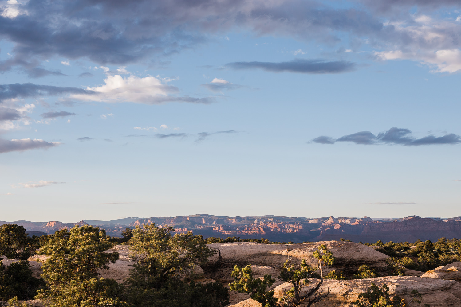 View of Zion National Park from Gooseberry Mesa