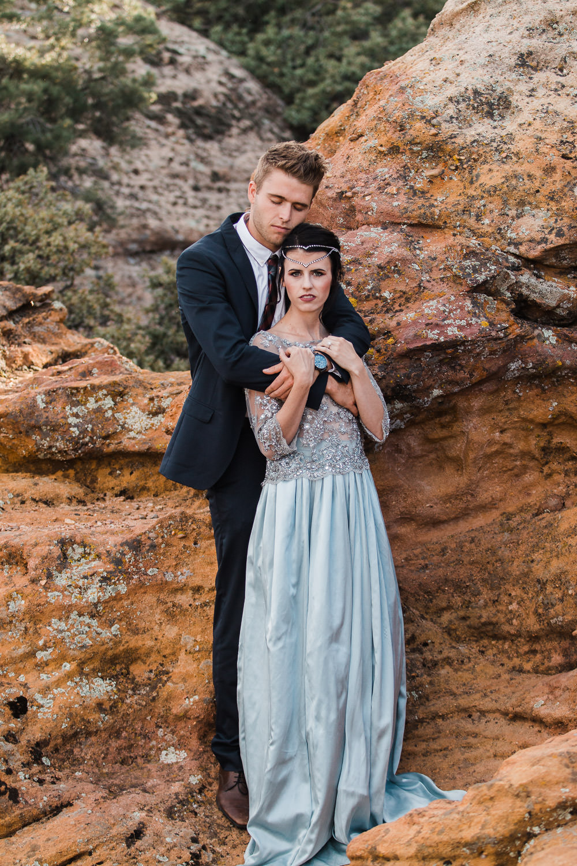 Danani Handmade bridal headpiece Utah Zion Wedding Photographers