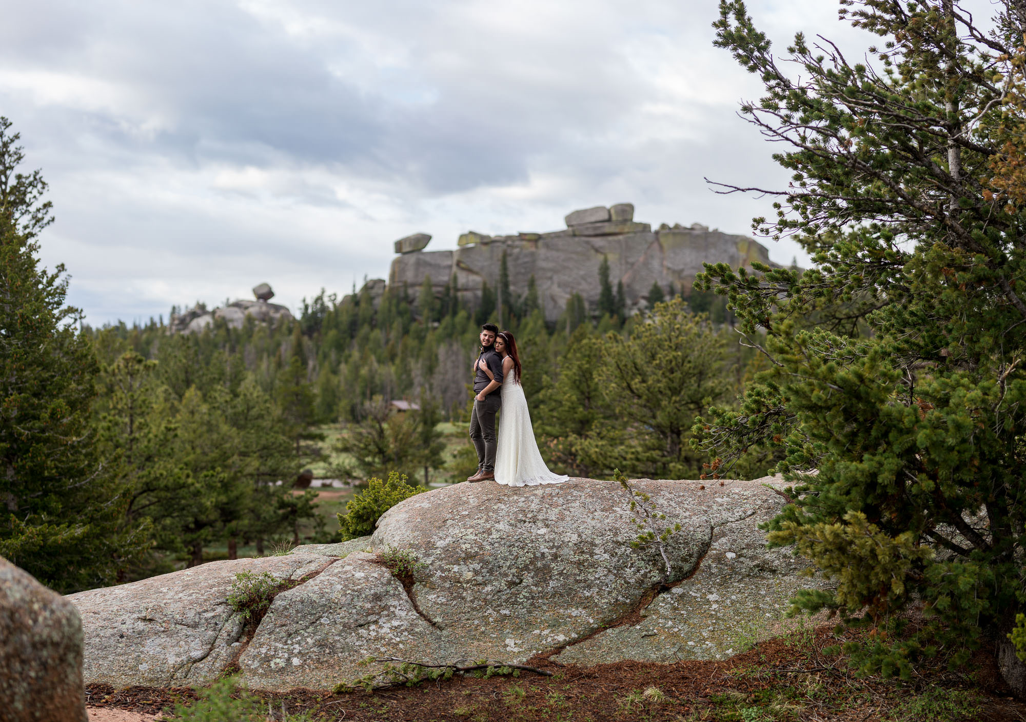 Adventure wedding in Vedawoo Medicine Bow National Forest Wyoming