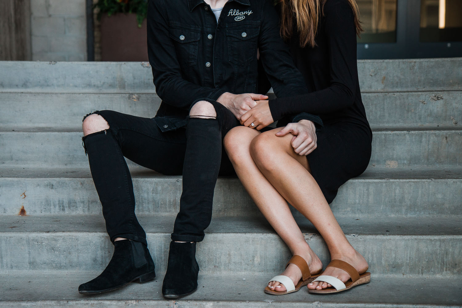 Trendy couple's engagements in Minneapolis