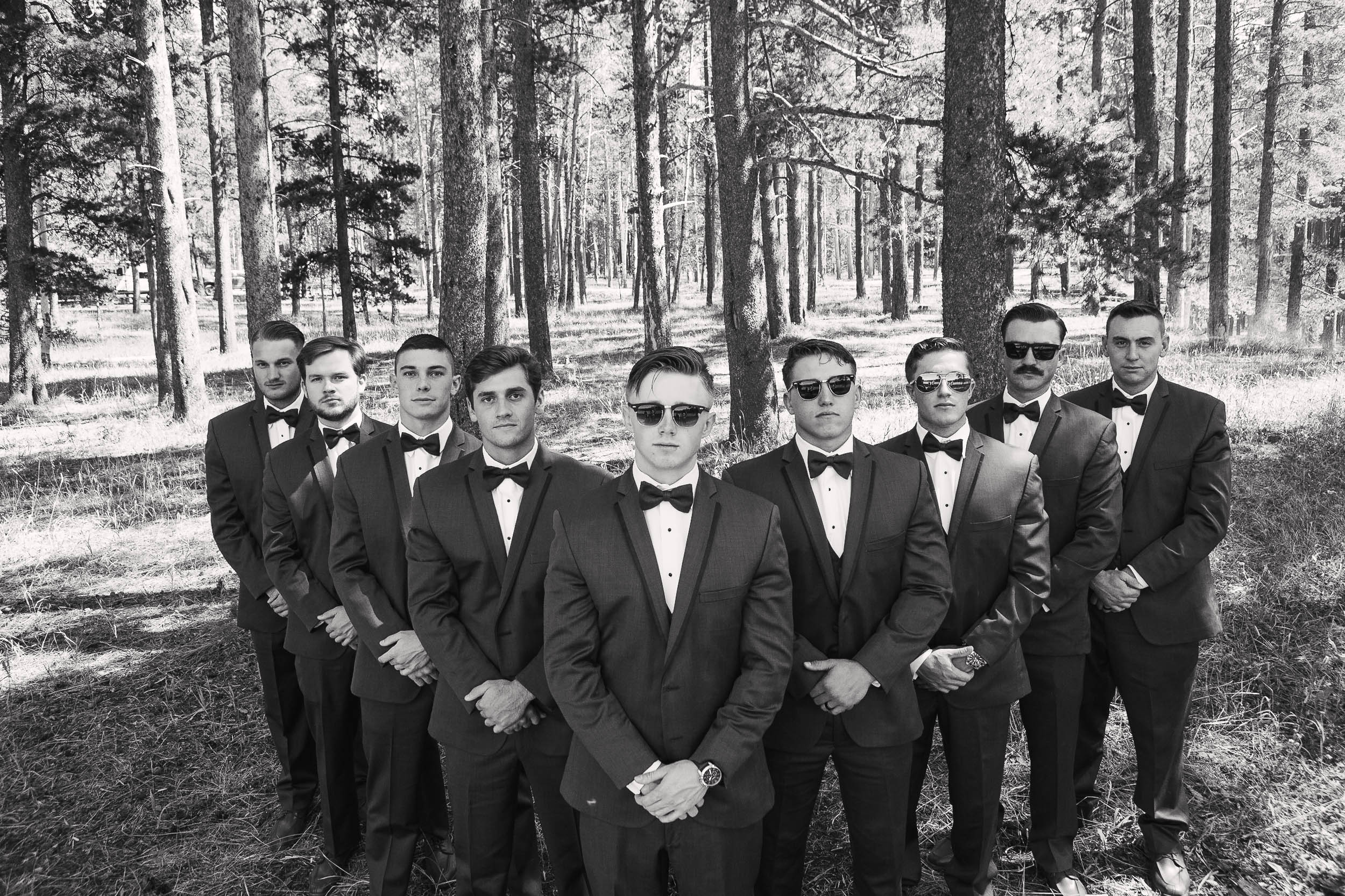 Groomsmen Bridal Party group picture