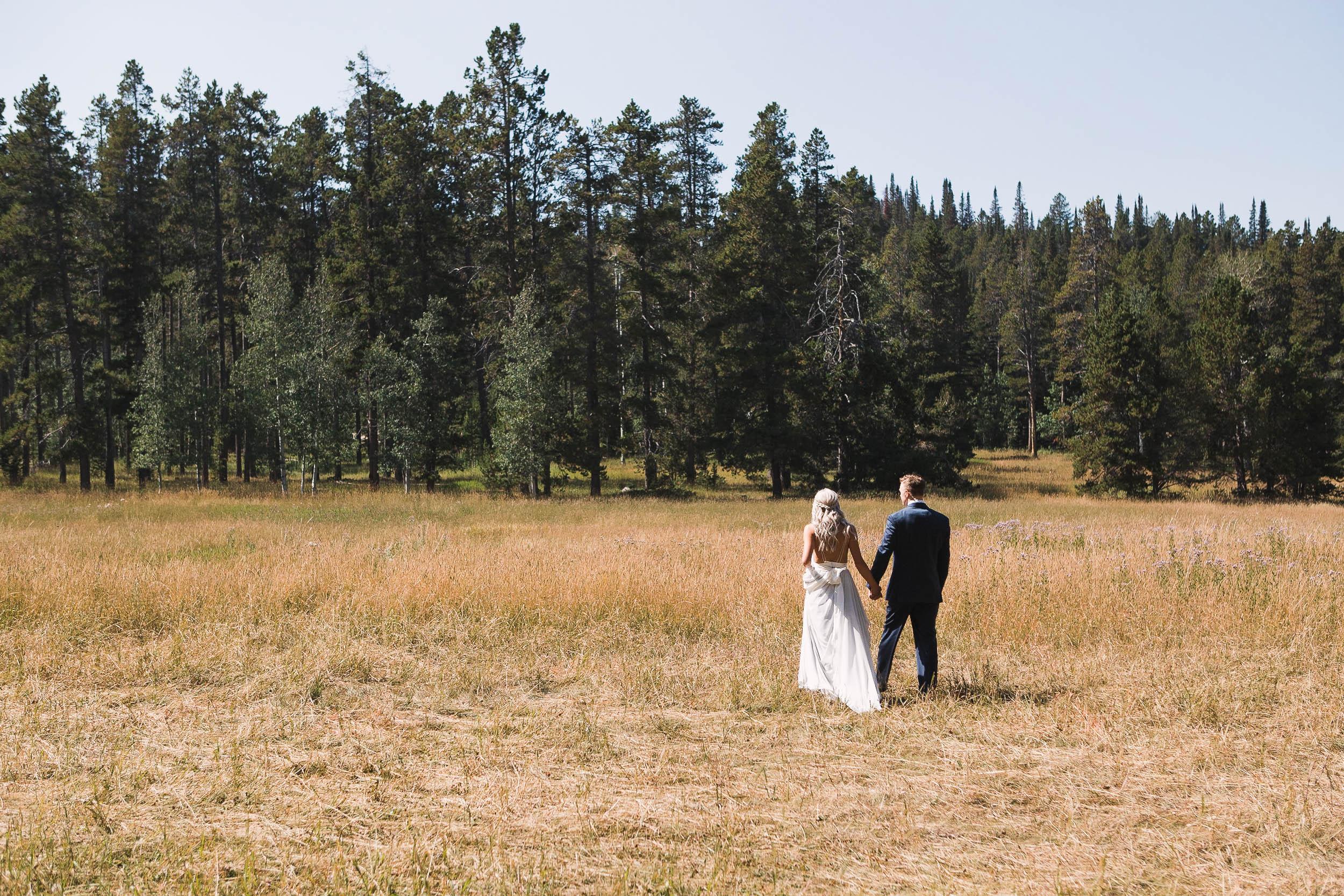 Casper Mountain Wedding Portraits