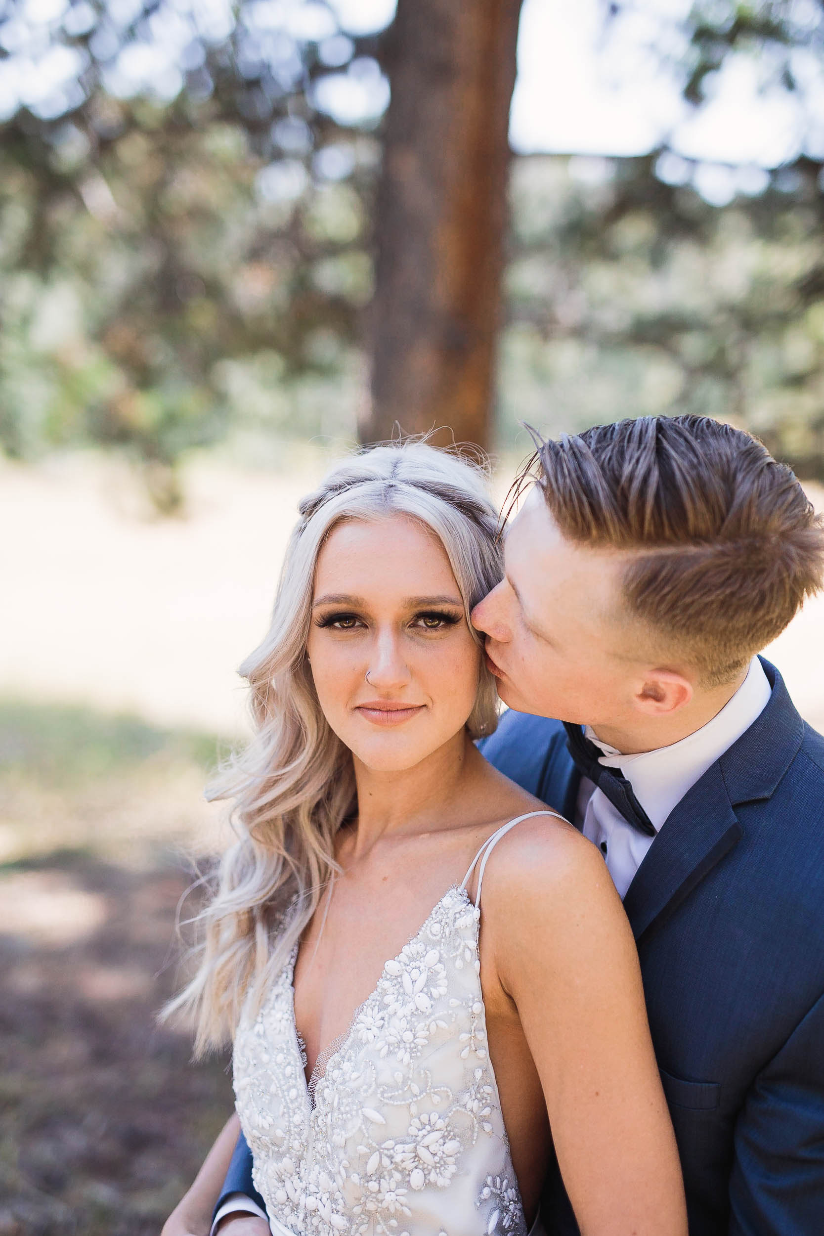 Stunning bride and groom wedding day portraits