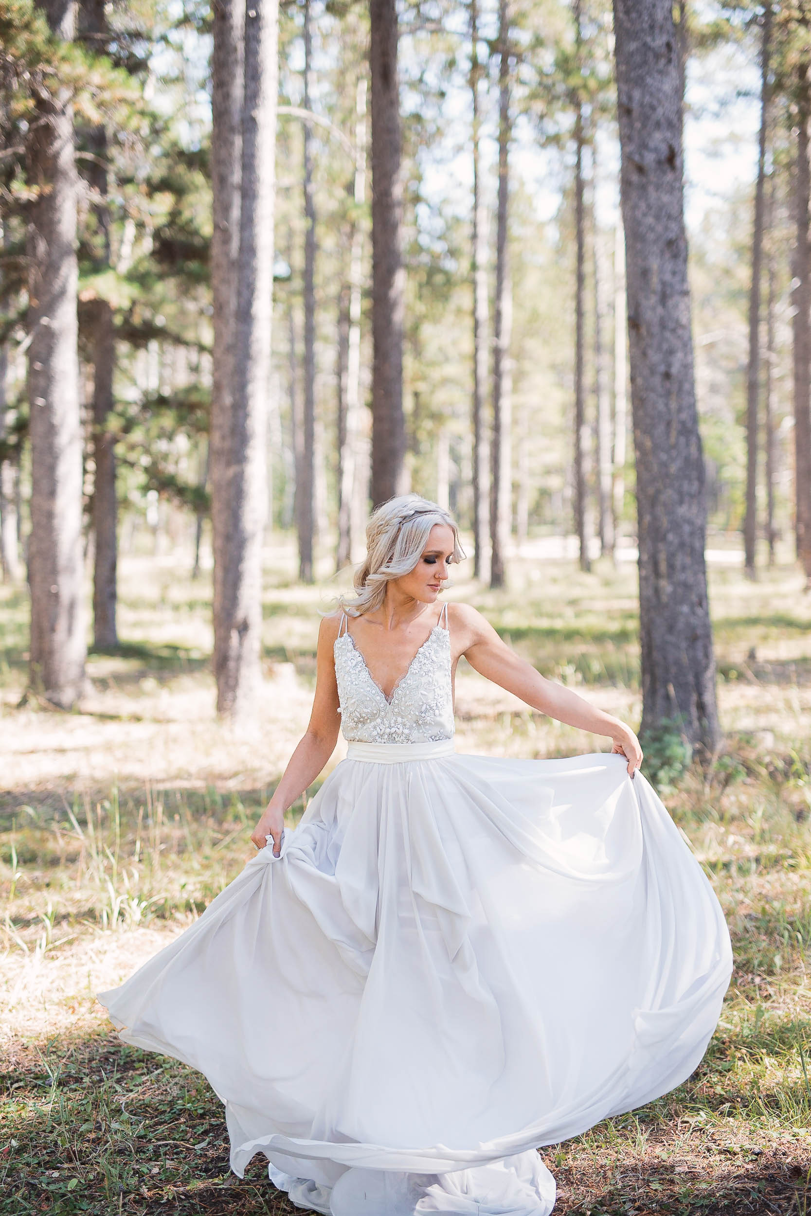 Beautiful bride in Truvelle bridal dress Casper Wyoming Wedding