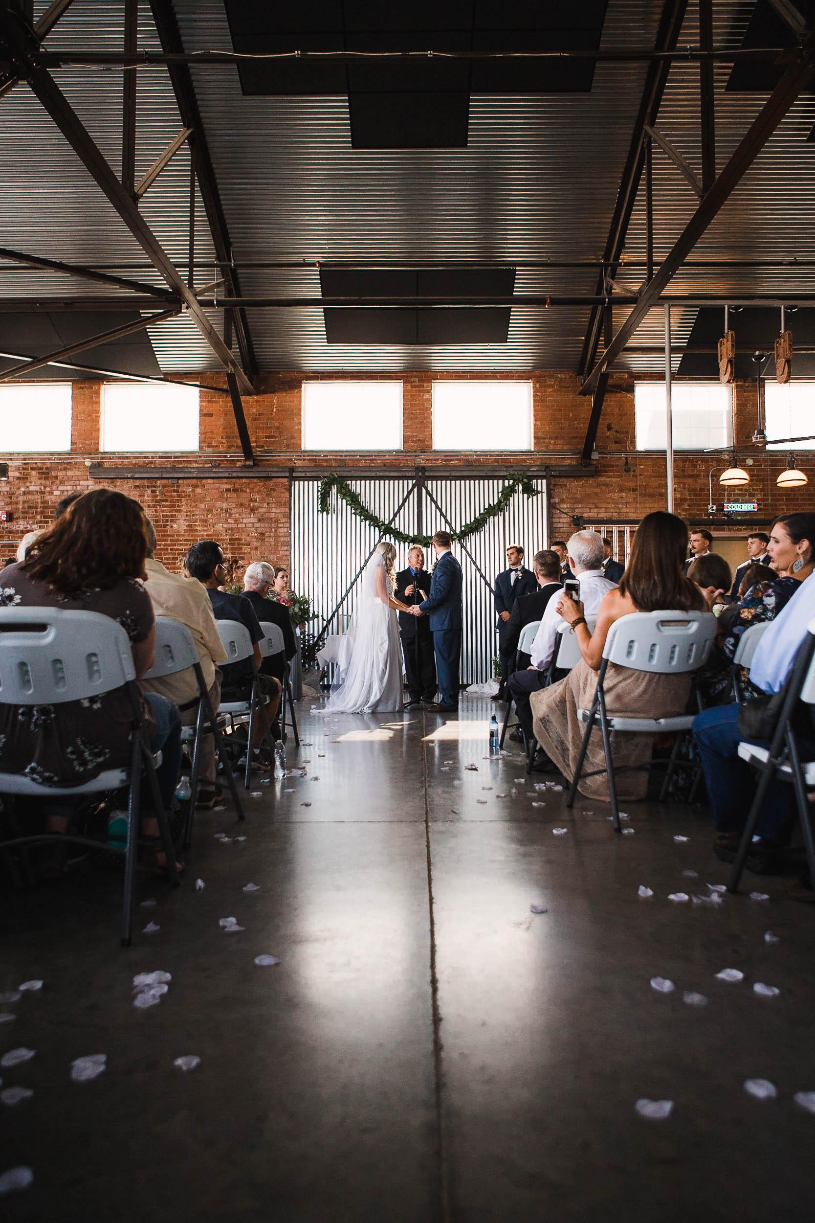 The Hangar Bar and Grill Casper Wyoming Wedding Ceremony