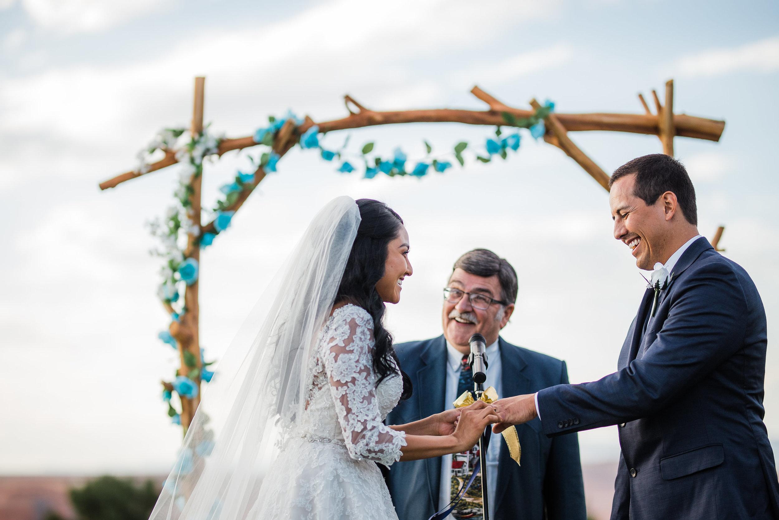 Wedding Couple Rings Ceremony