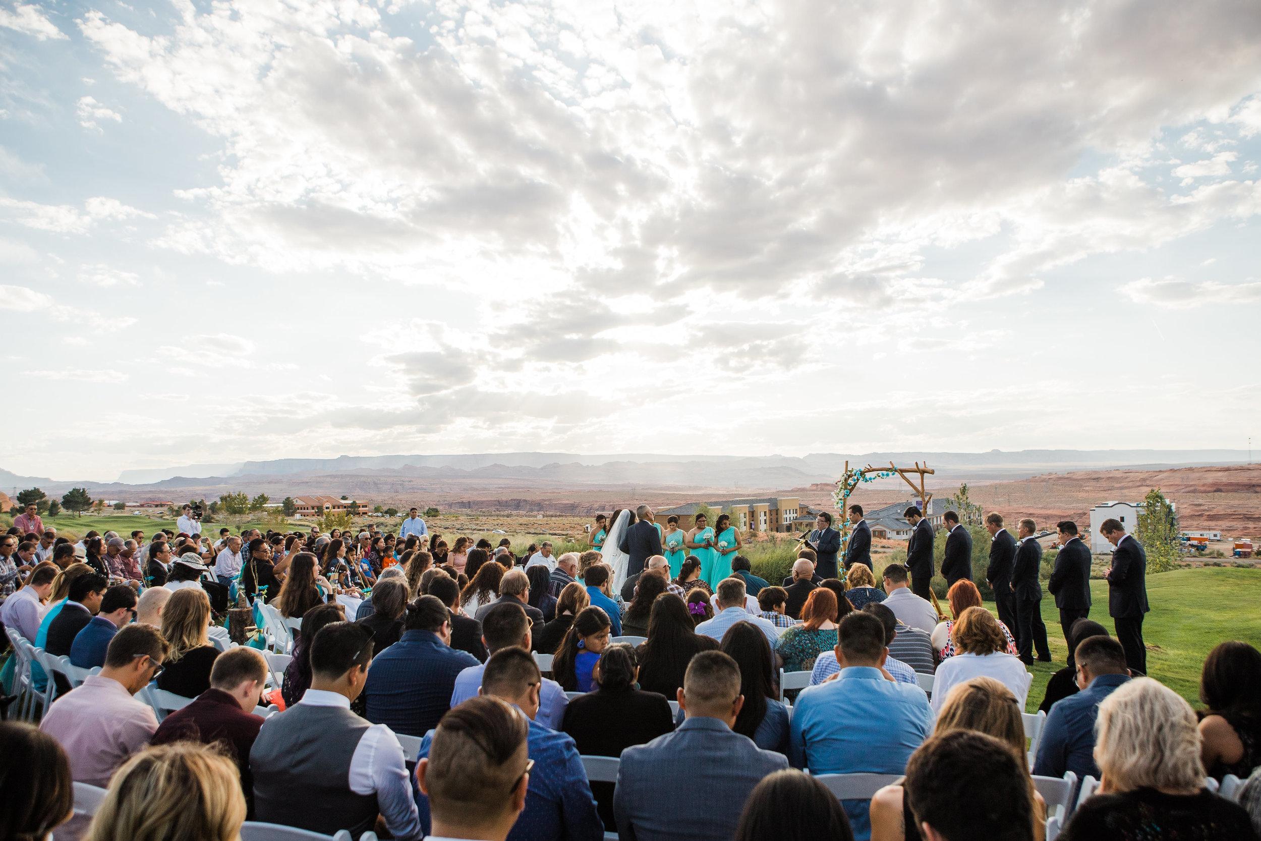 Lake Powell Golf Course Wedding Ceremony