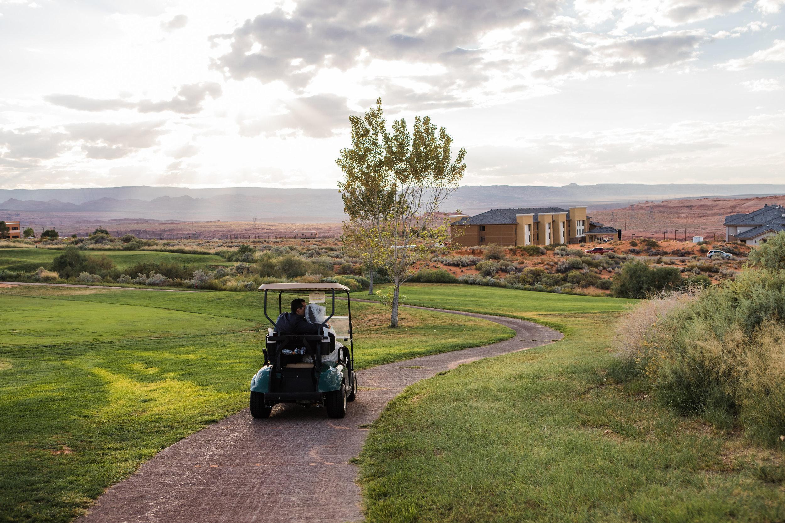Wedding Golf Cart Ride