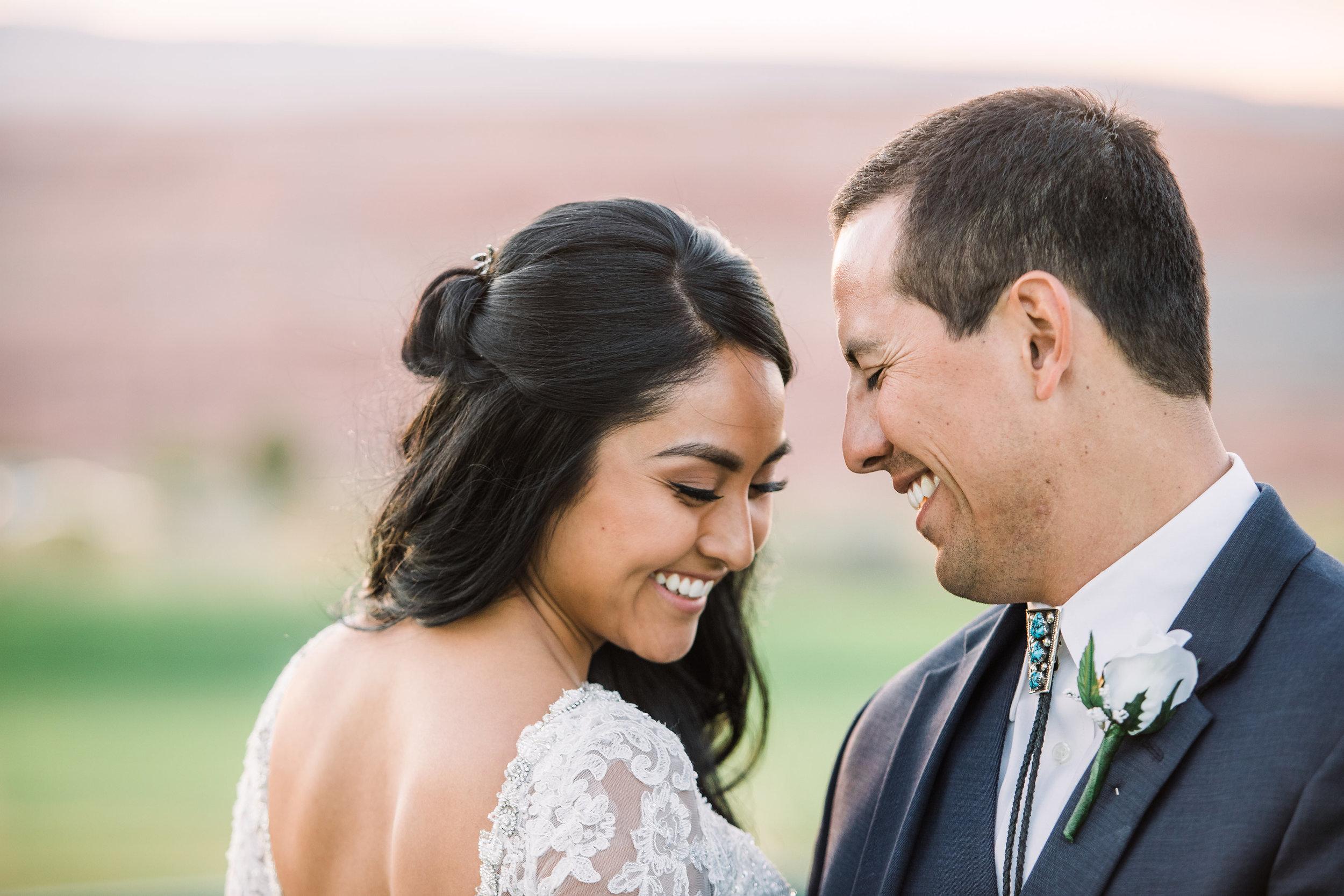 Bride Groom Wedding Smile