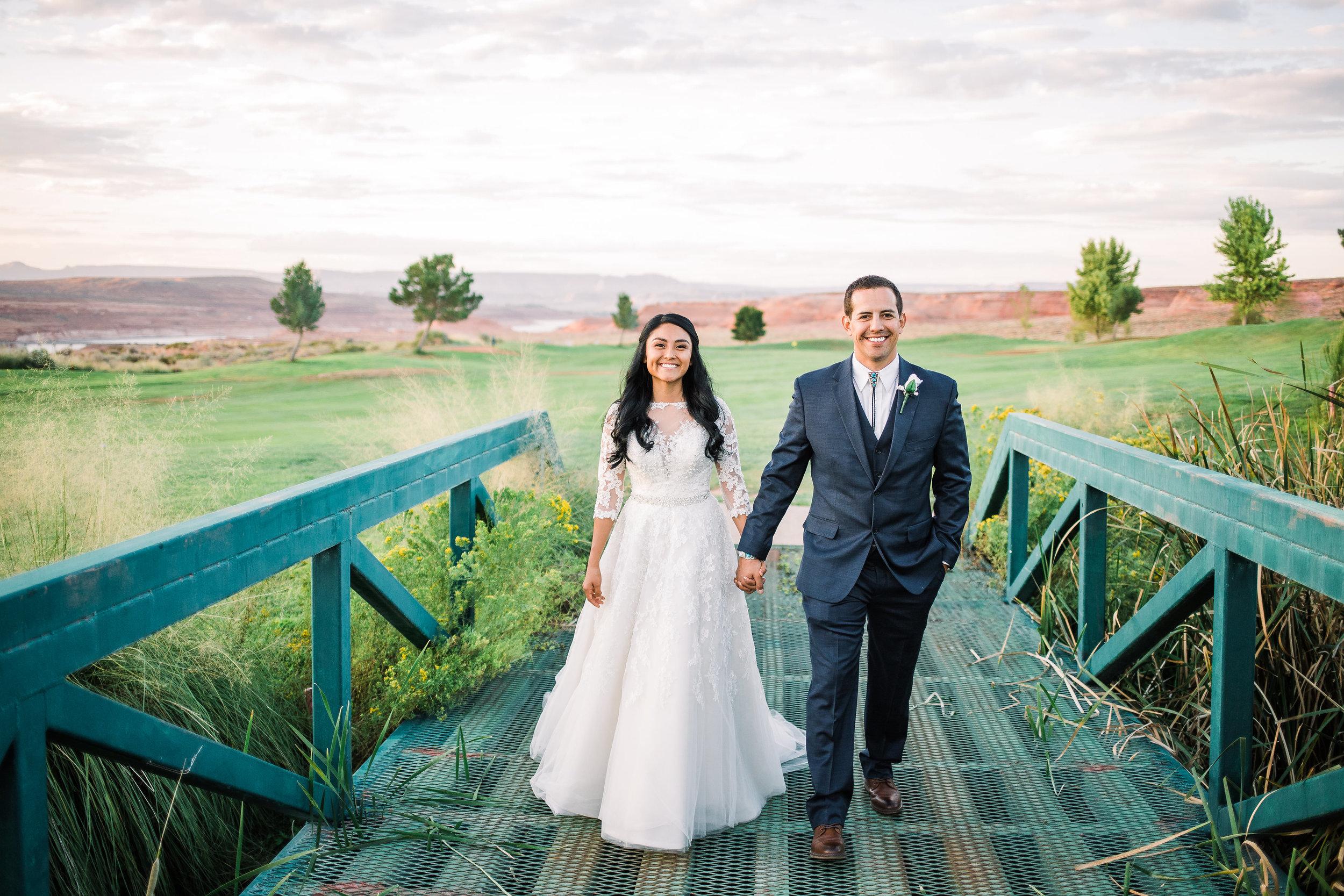 Lake Powell Golf Course Wedding