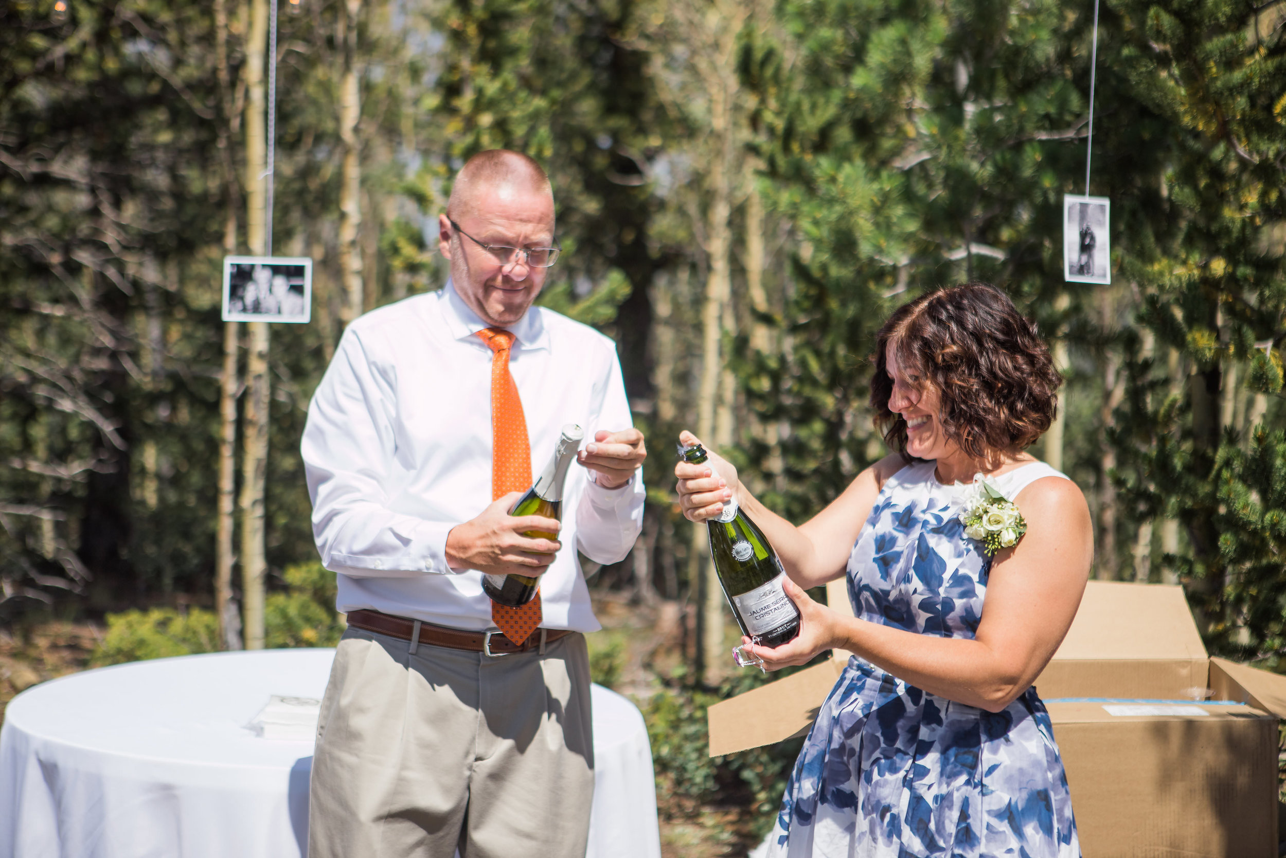 Champagne Toast Outdoor Wedding Reception