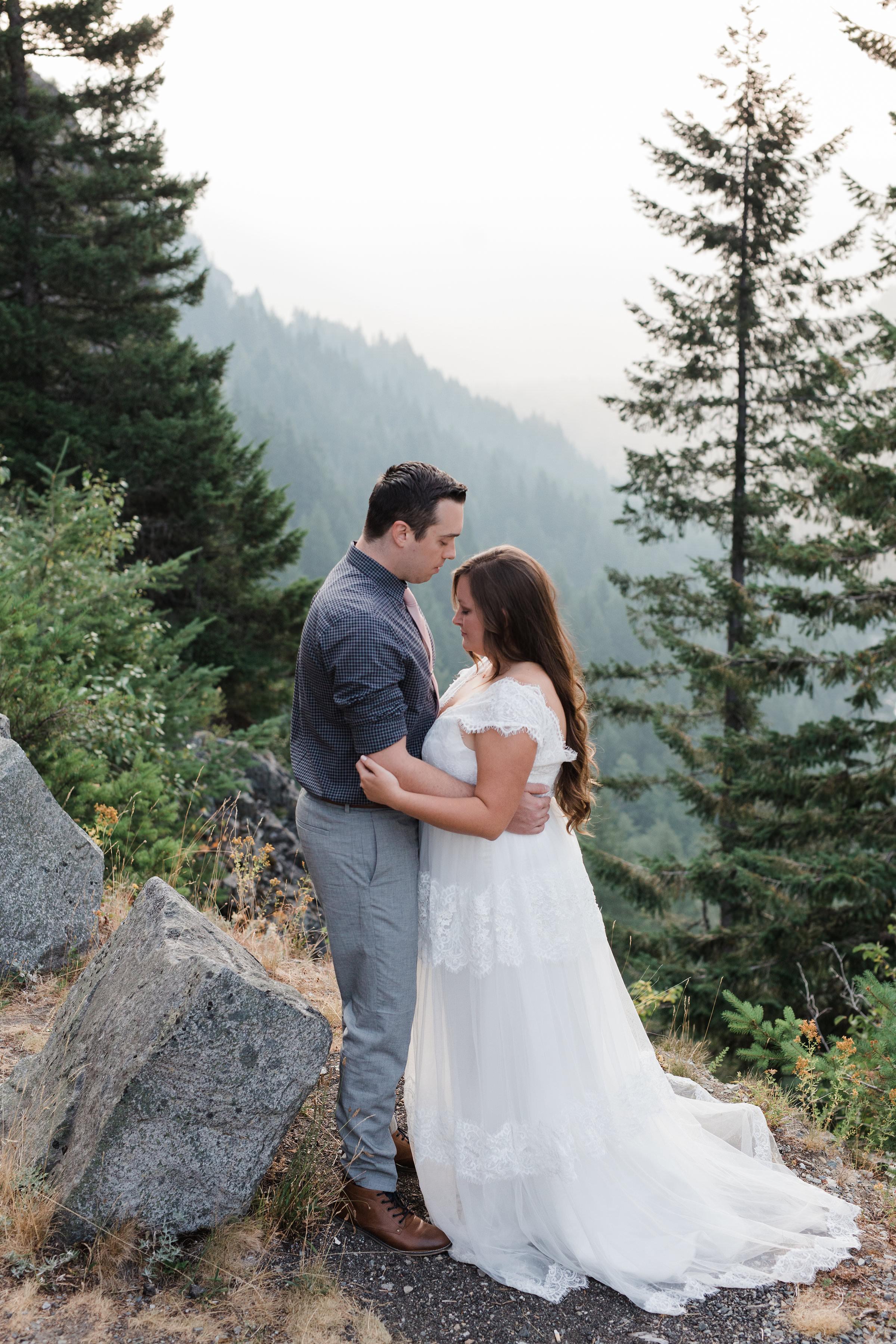 Mount Rainier Bride Groom Wedding