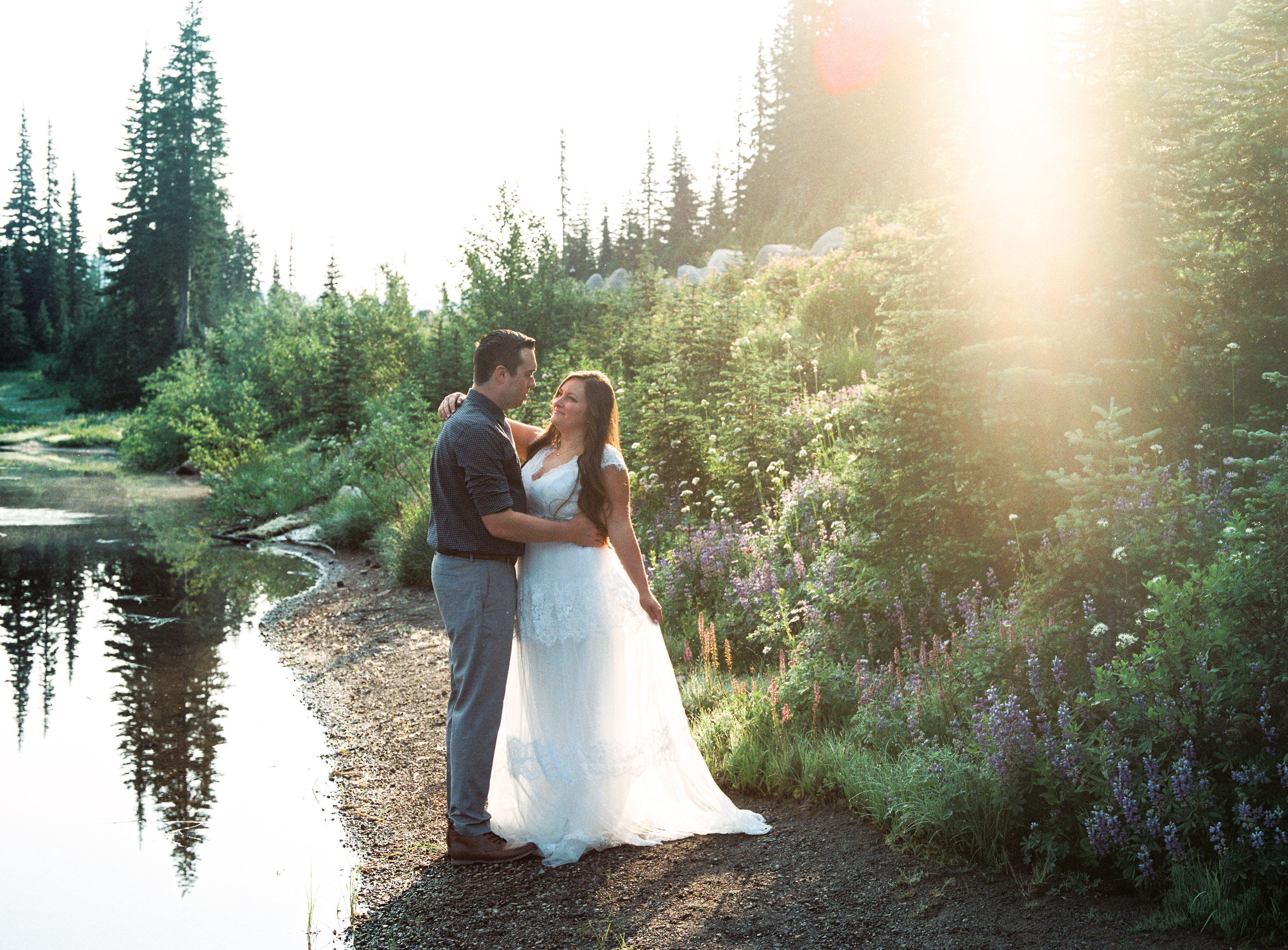 Sunrise Mountain Bride Groom Portrait