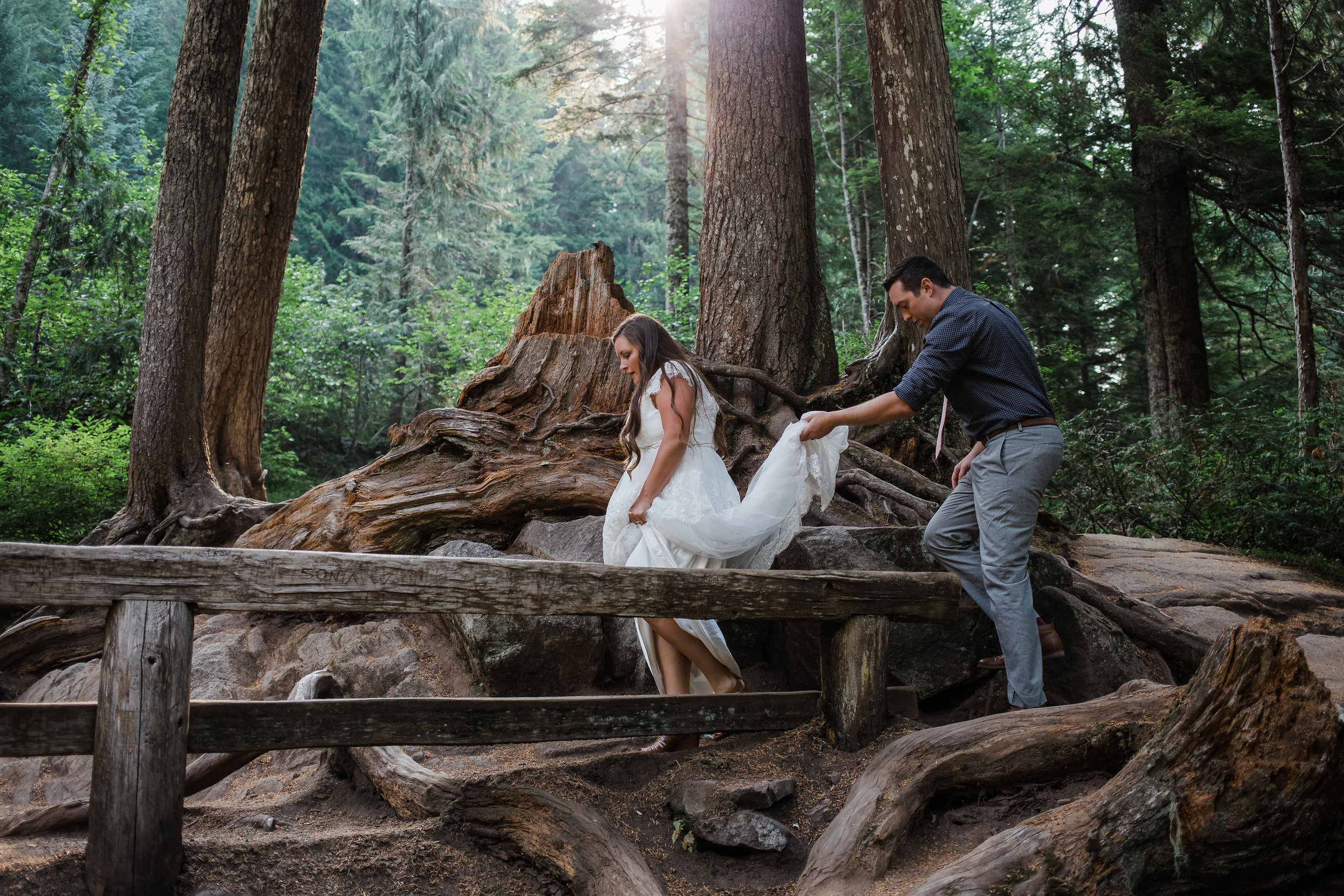 Adventure wedding in the forest