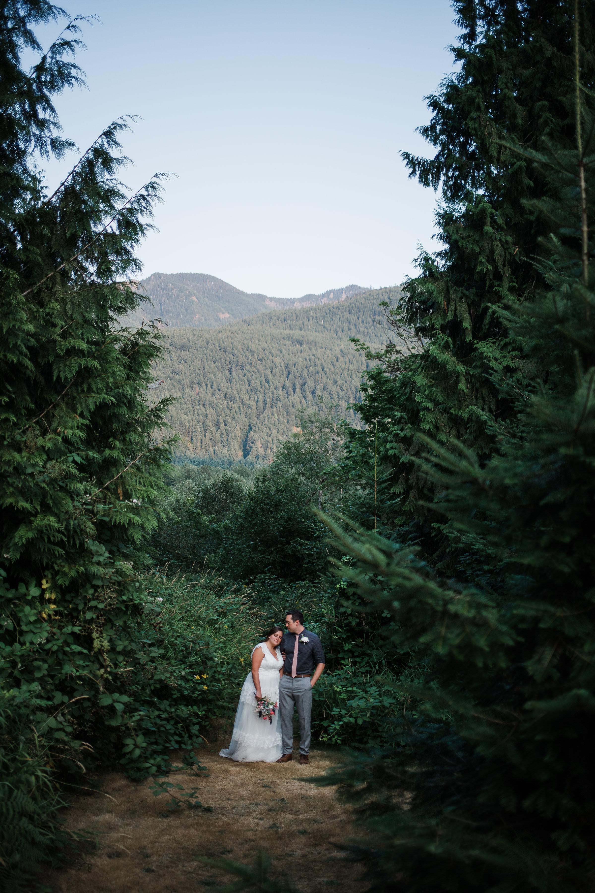 Mount Rainier Forest Intimate Wedding