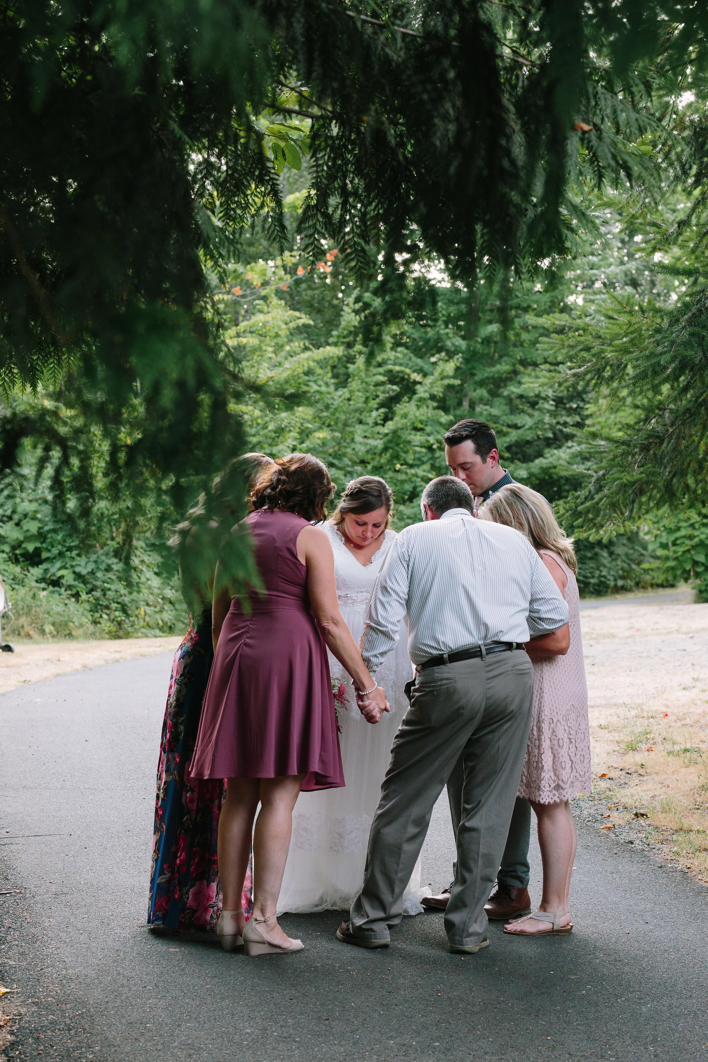 Family Prayer Ceremony Wedding