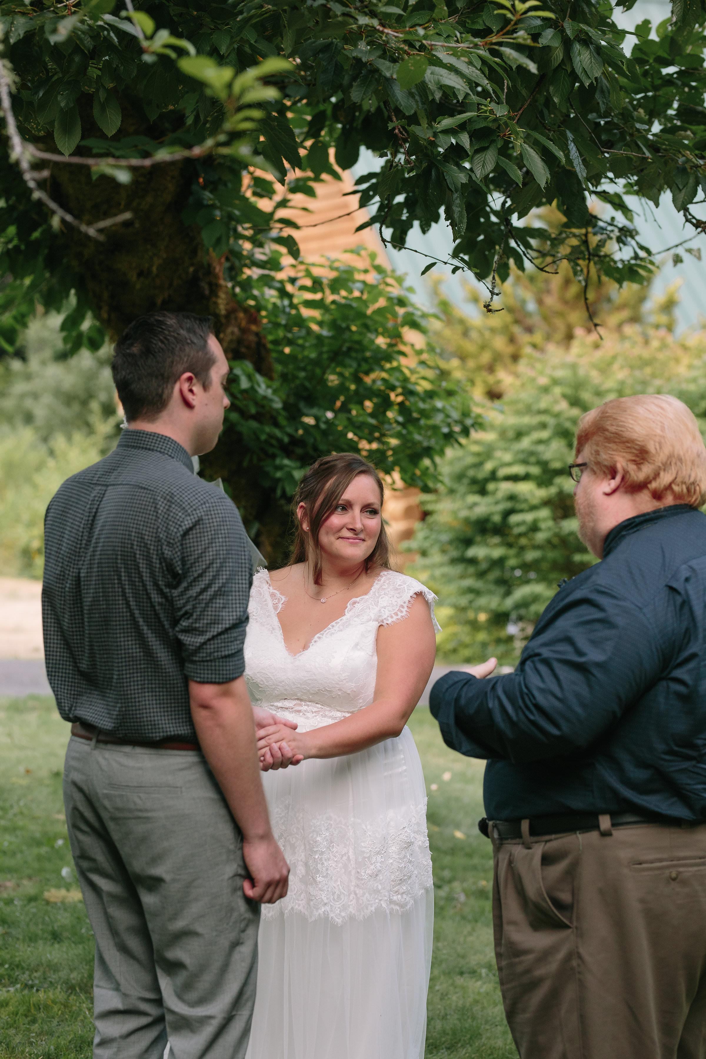 Intimate Wedding Forest Ceremony