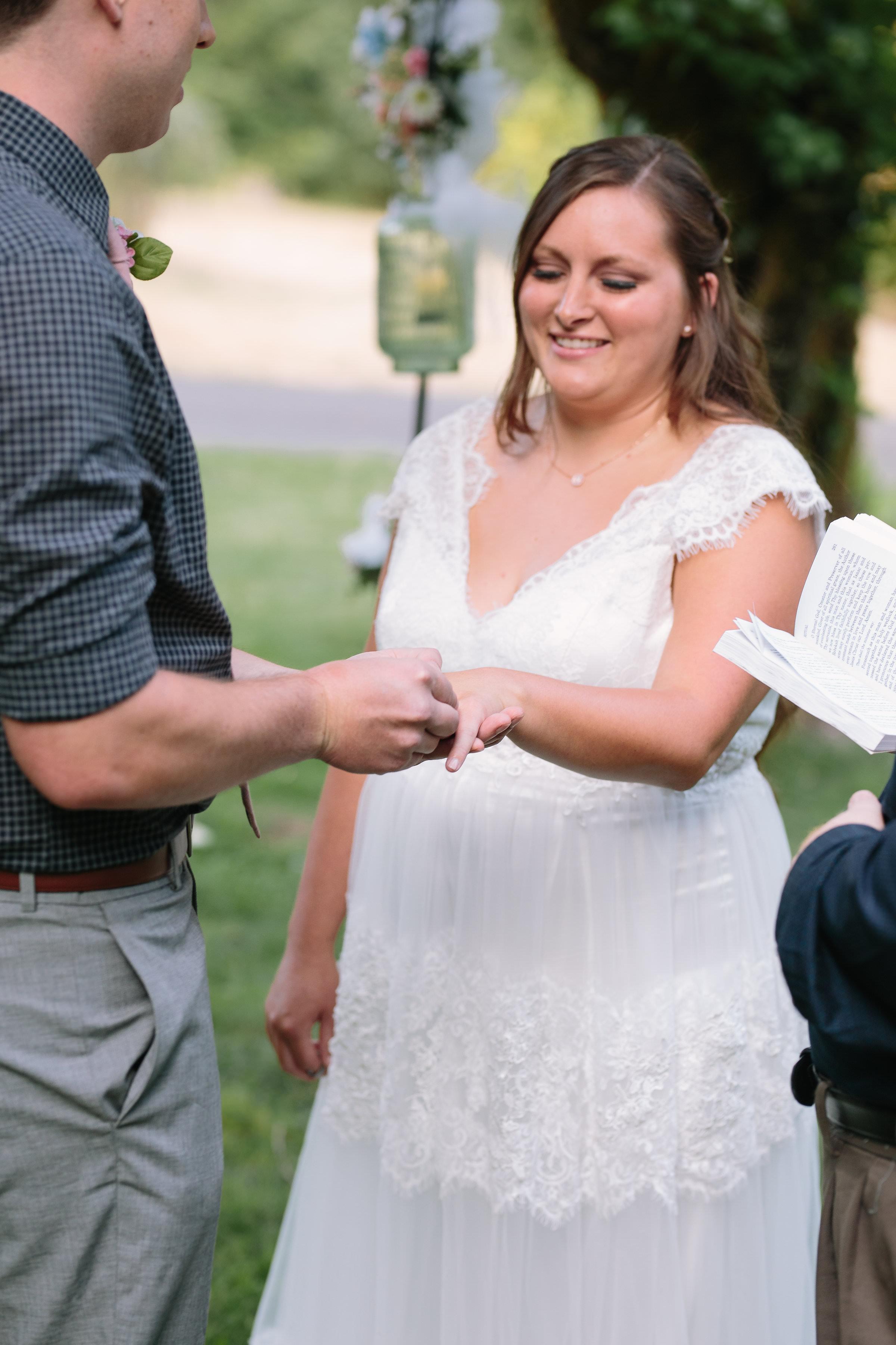 Ring Exchange Intimate Ceremony