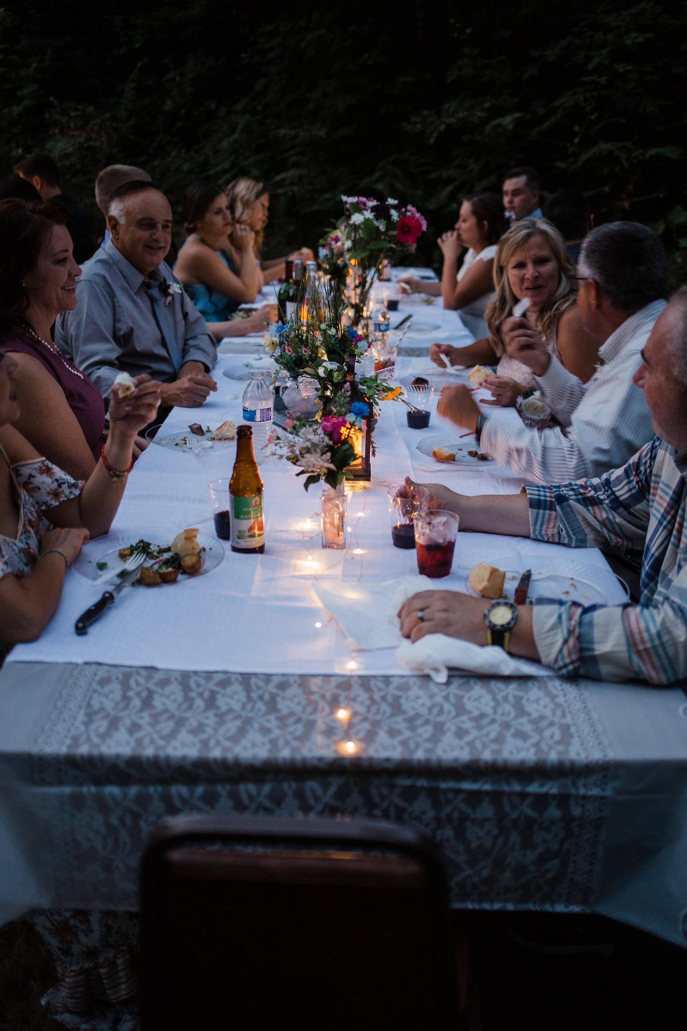 Intimate Wedding Reception Outdoor