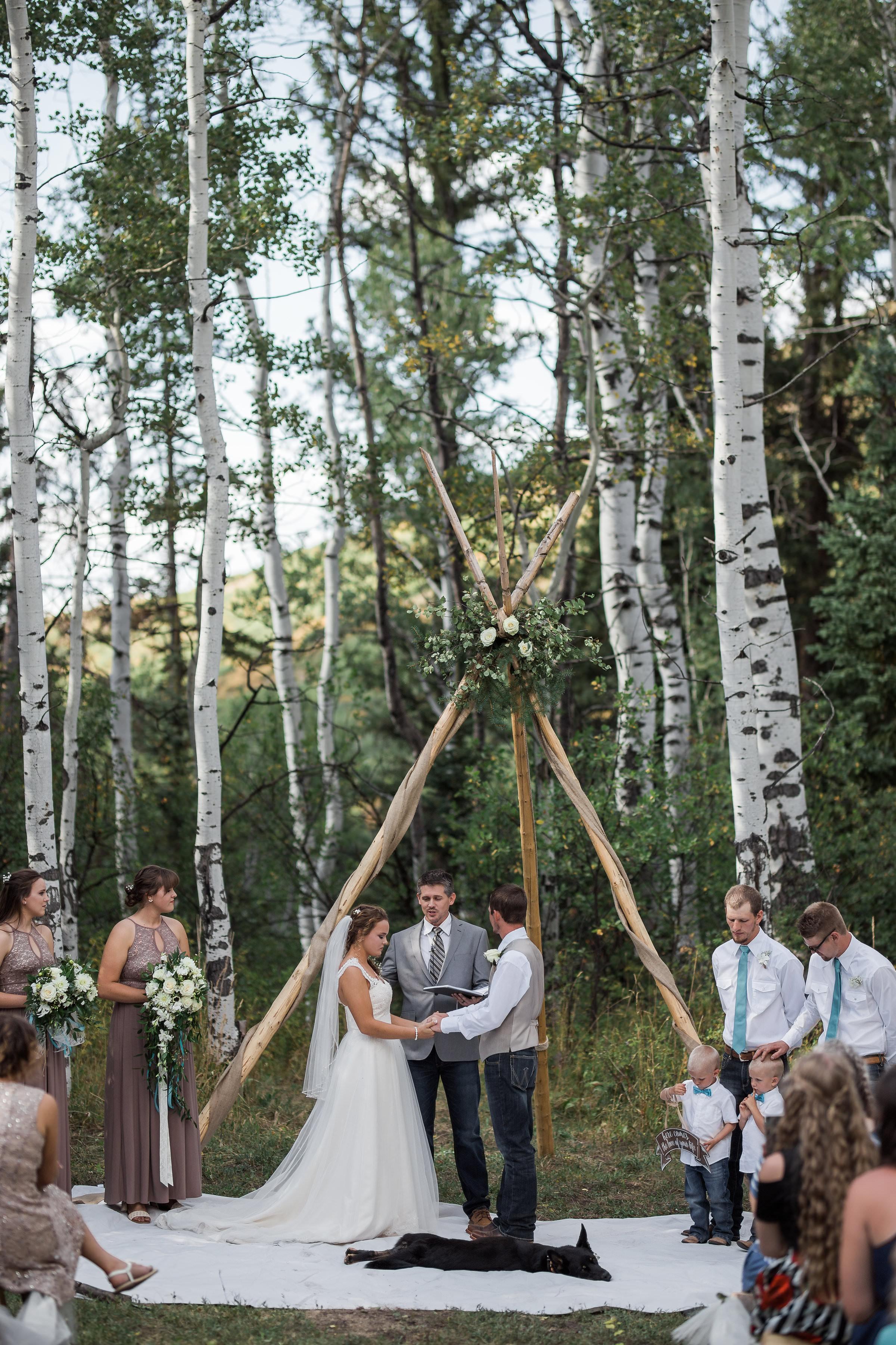 Indian Boho Princess Wedding Mountain Colorado