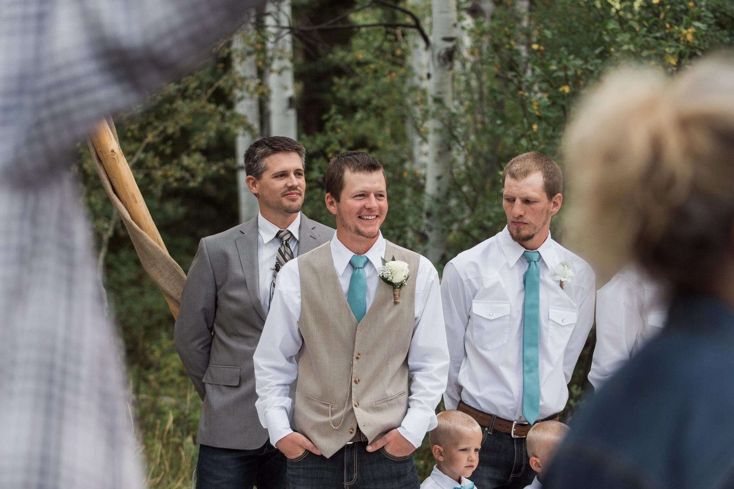 First Look Groom Ceremony Colorado