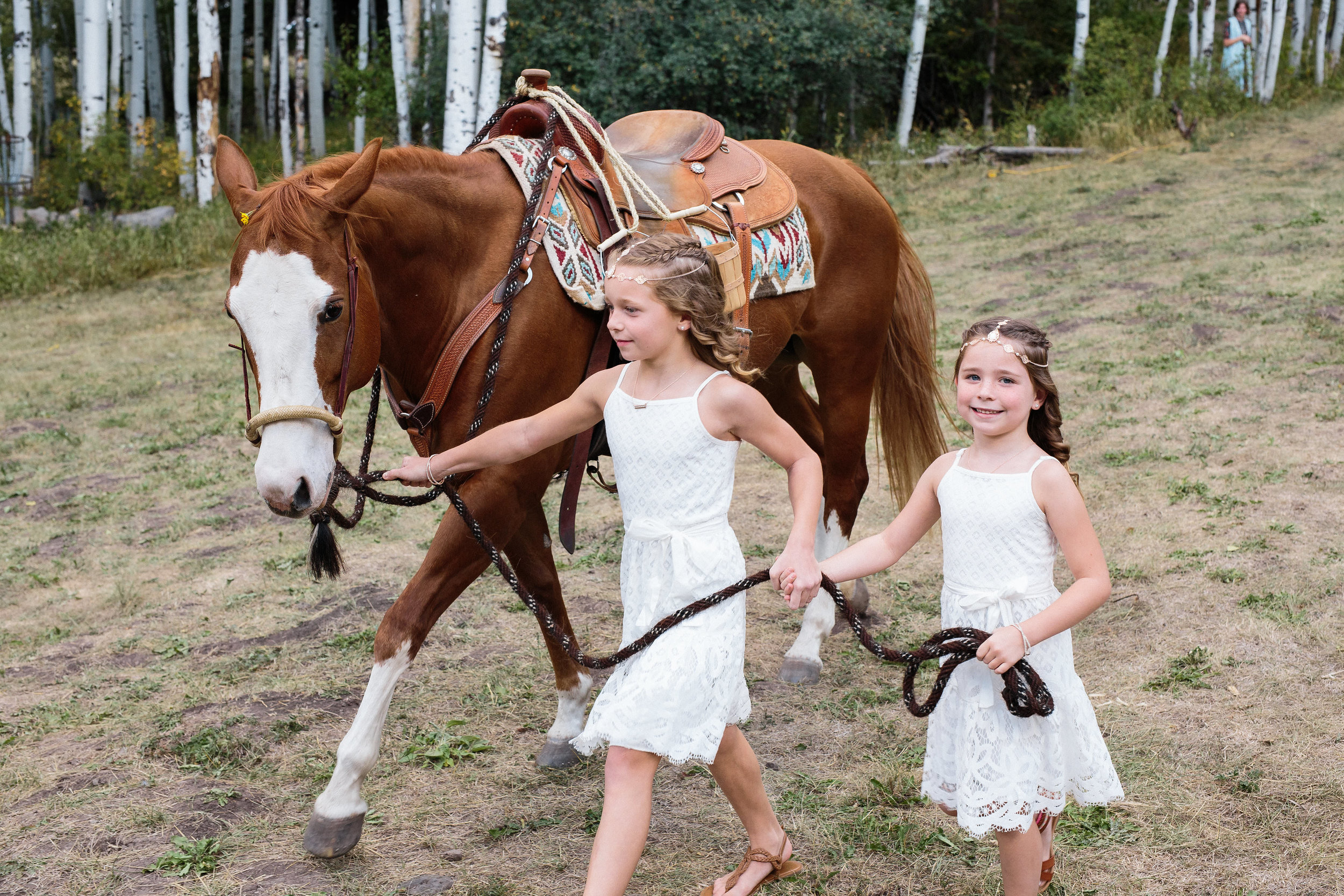 Flower Girl Horse Mountain Ceremony