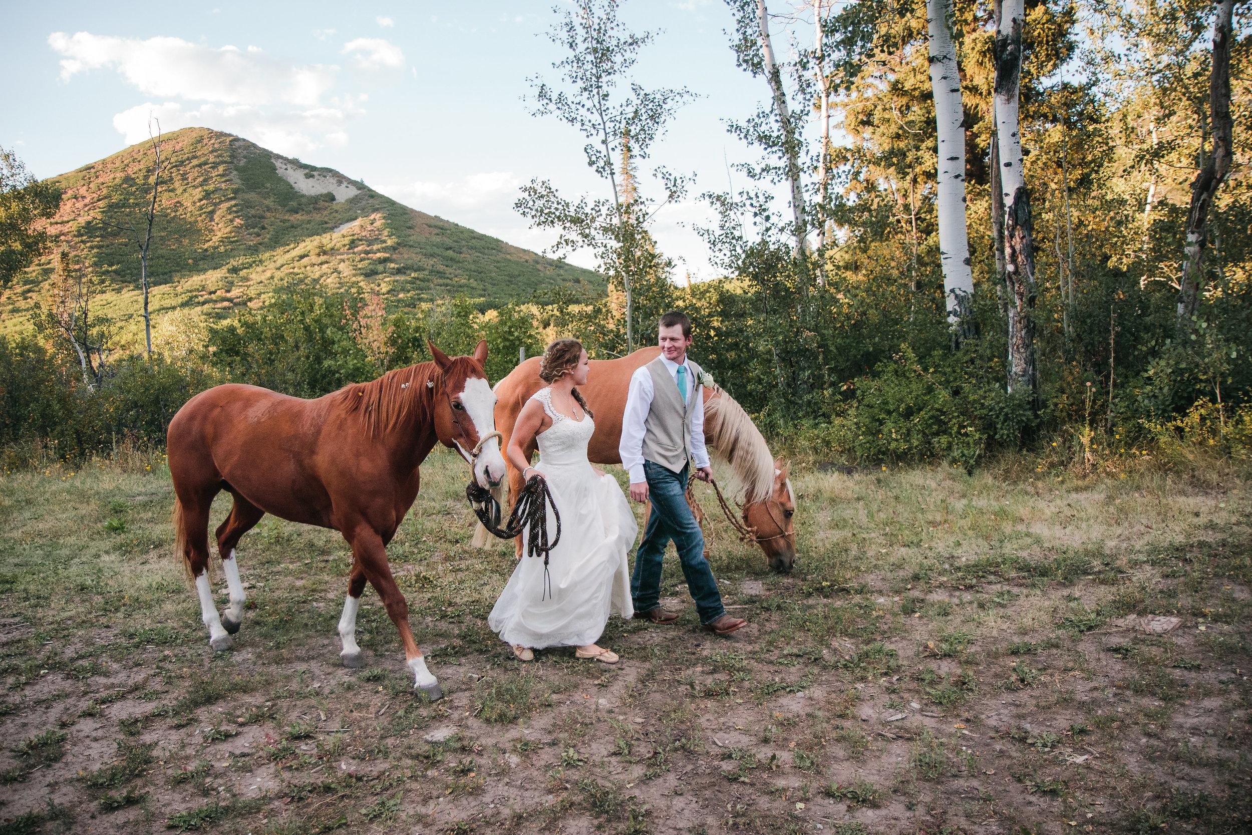 Bride Groom Mountain Wedding Elopement