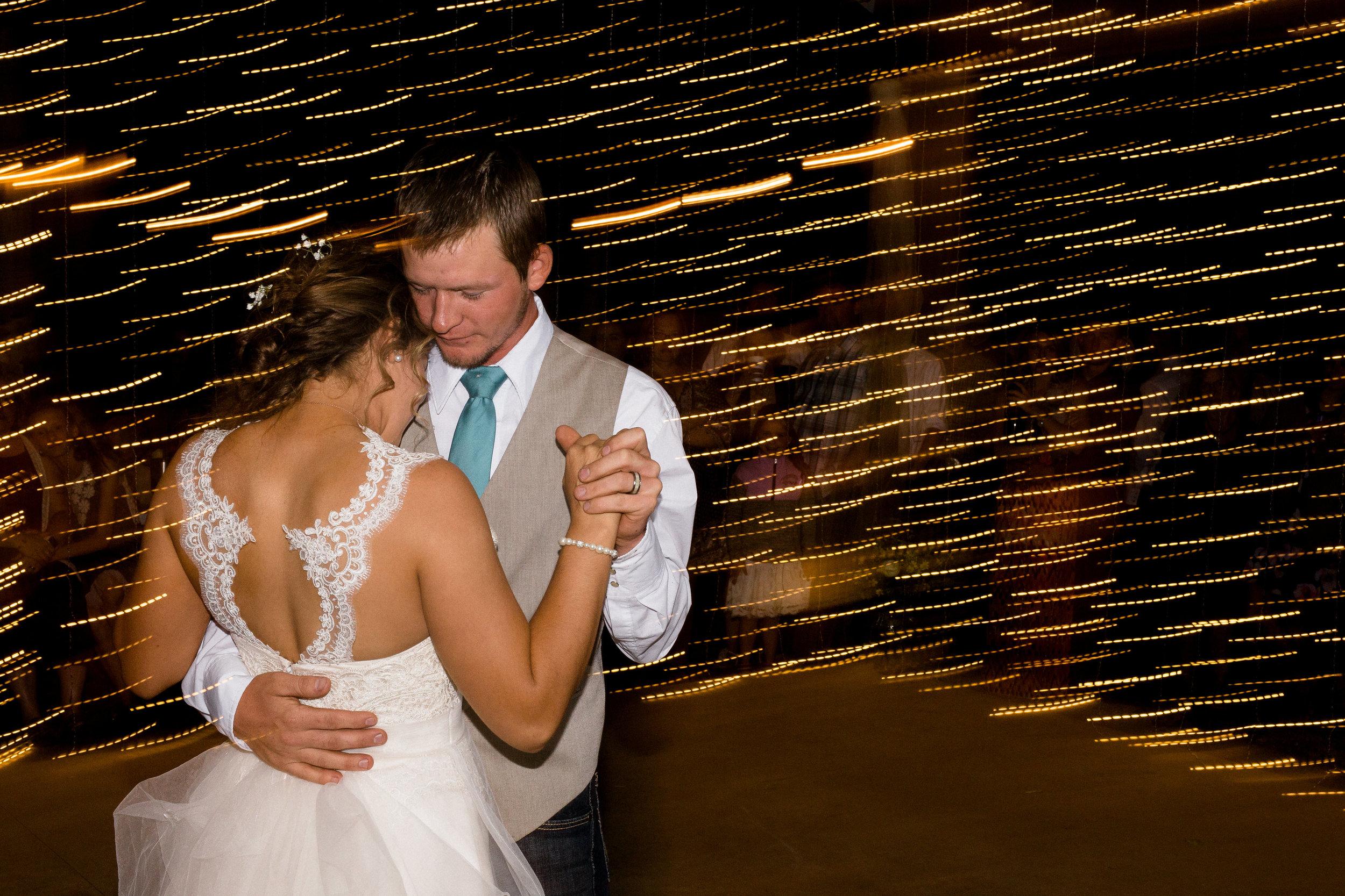 First Dance Colorado Mountain Wedding