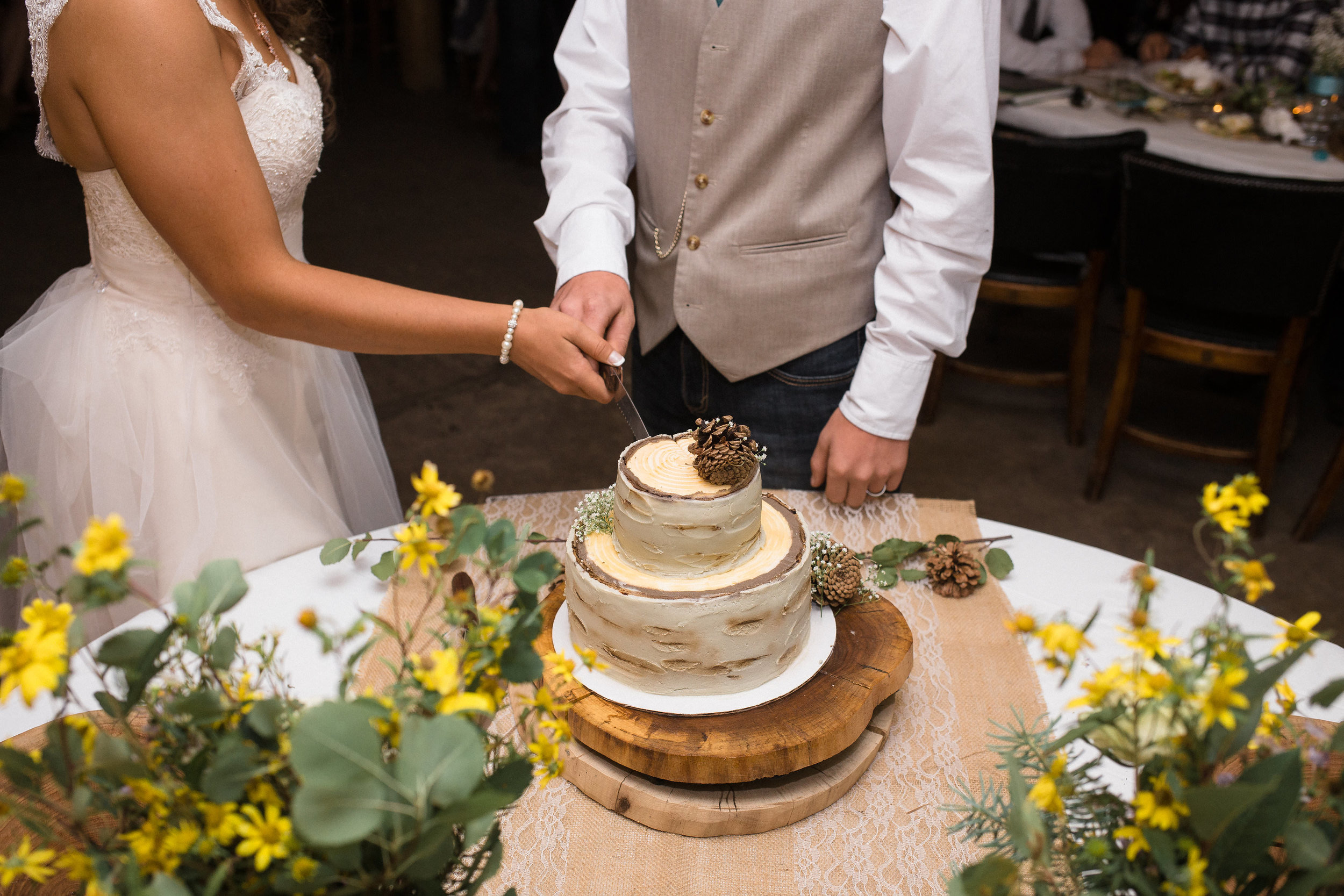 Aspen Tree Cake Mountain Wedding Reception