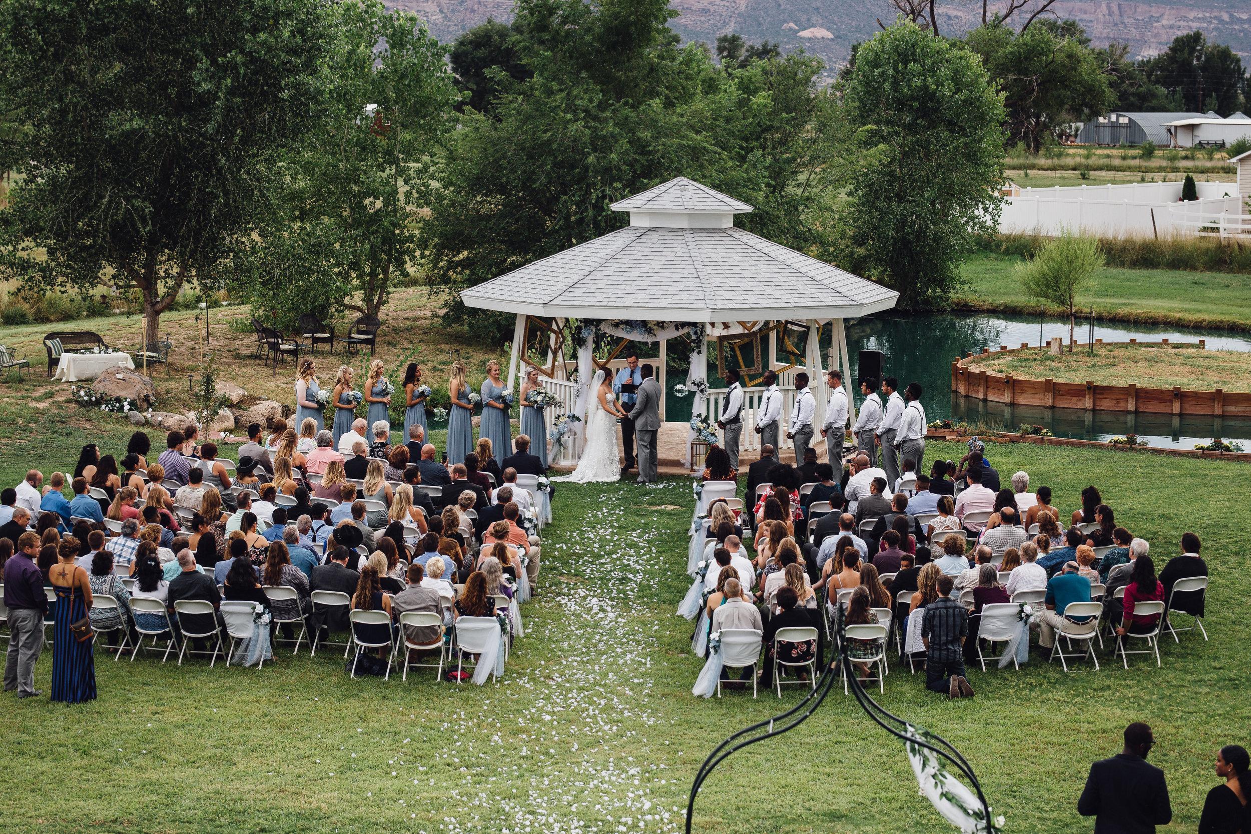 Colorado interracial backyard wedding