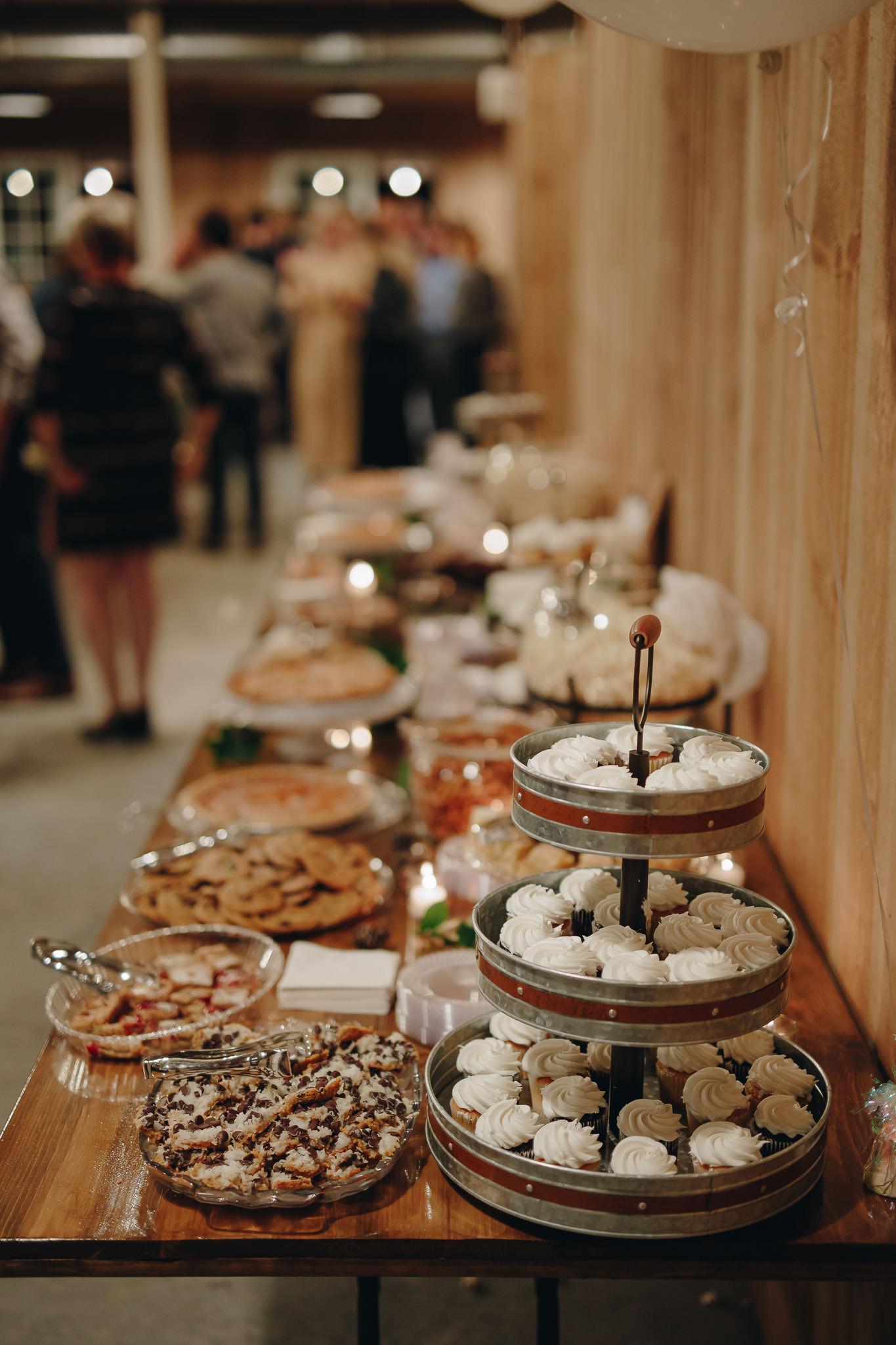 Dessert table at wedding reception near Twin Cities