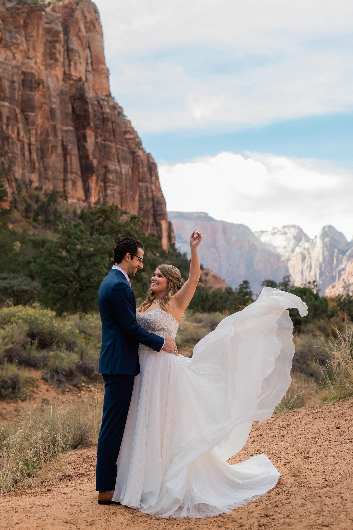 Zion National Park Wedding Photographer Kyle Loves Tori Photography