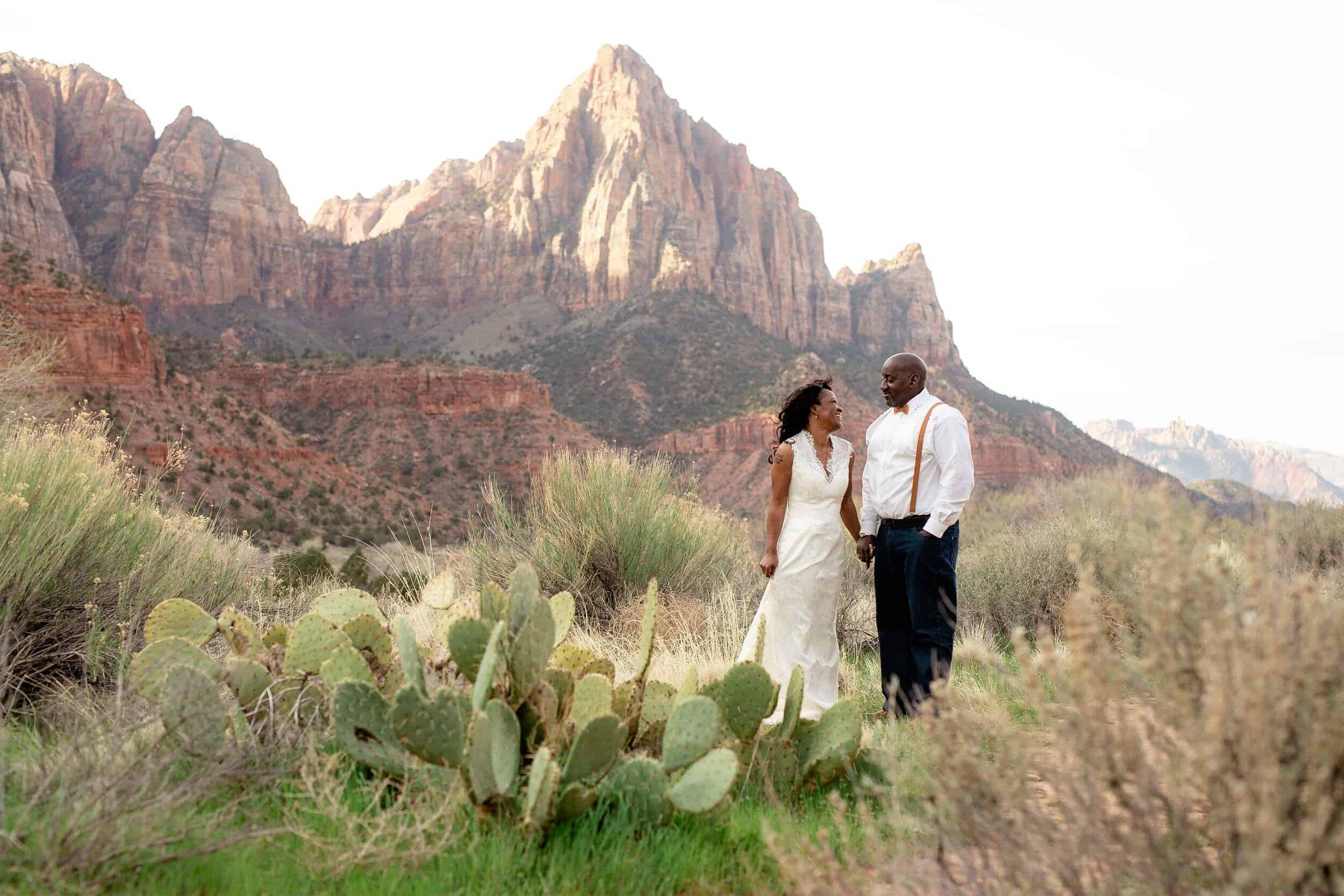Zion National Park Wedding Photographer The Watchman