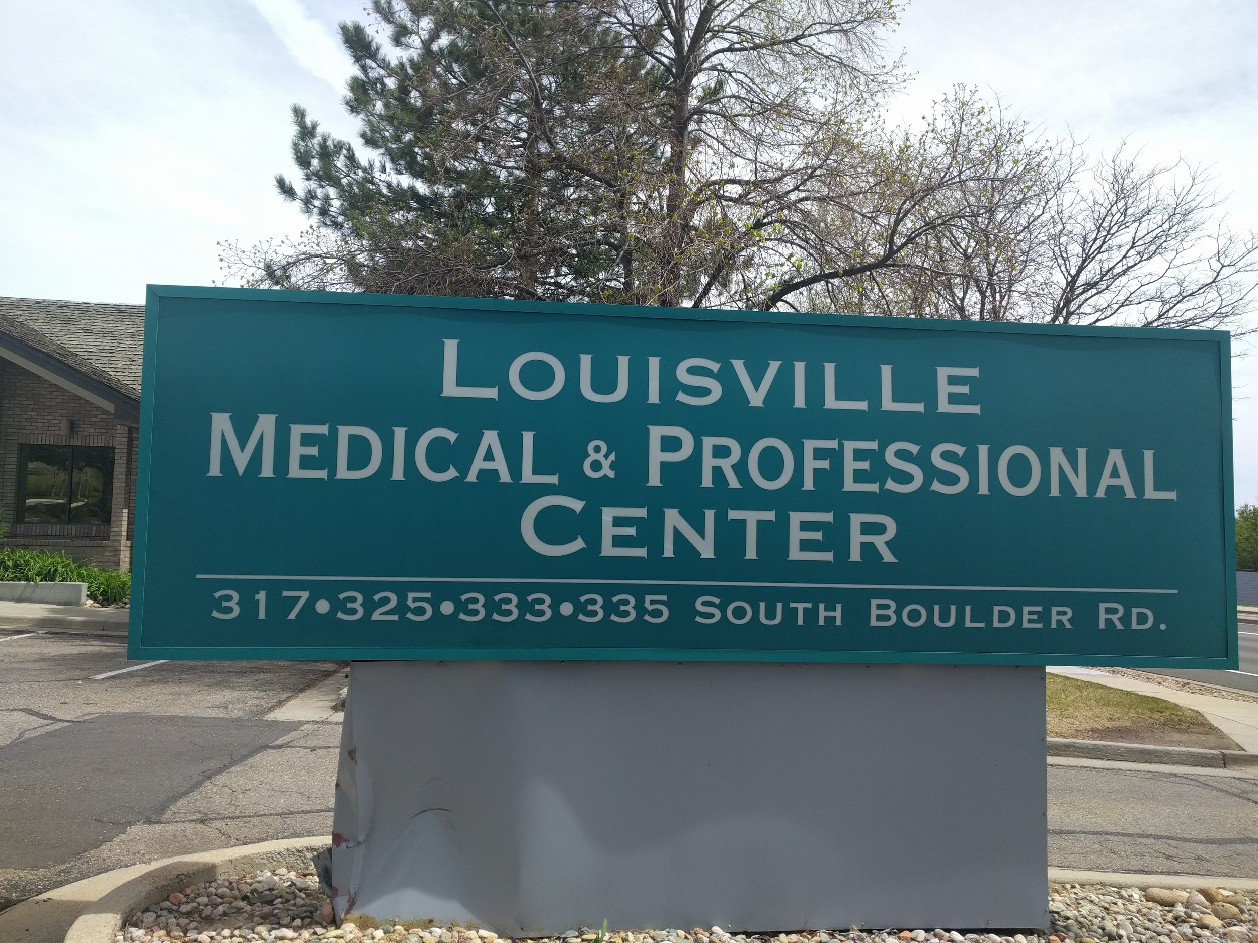 *Look for the Teal sign 'Louisville Professional and Medical Buildings' on North side of S. Boulder between Via Appia and Garfield. Inside the ITEA acupuncture building.