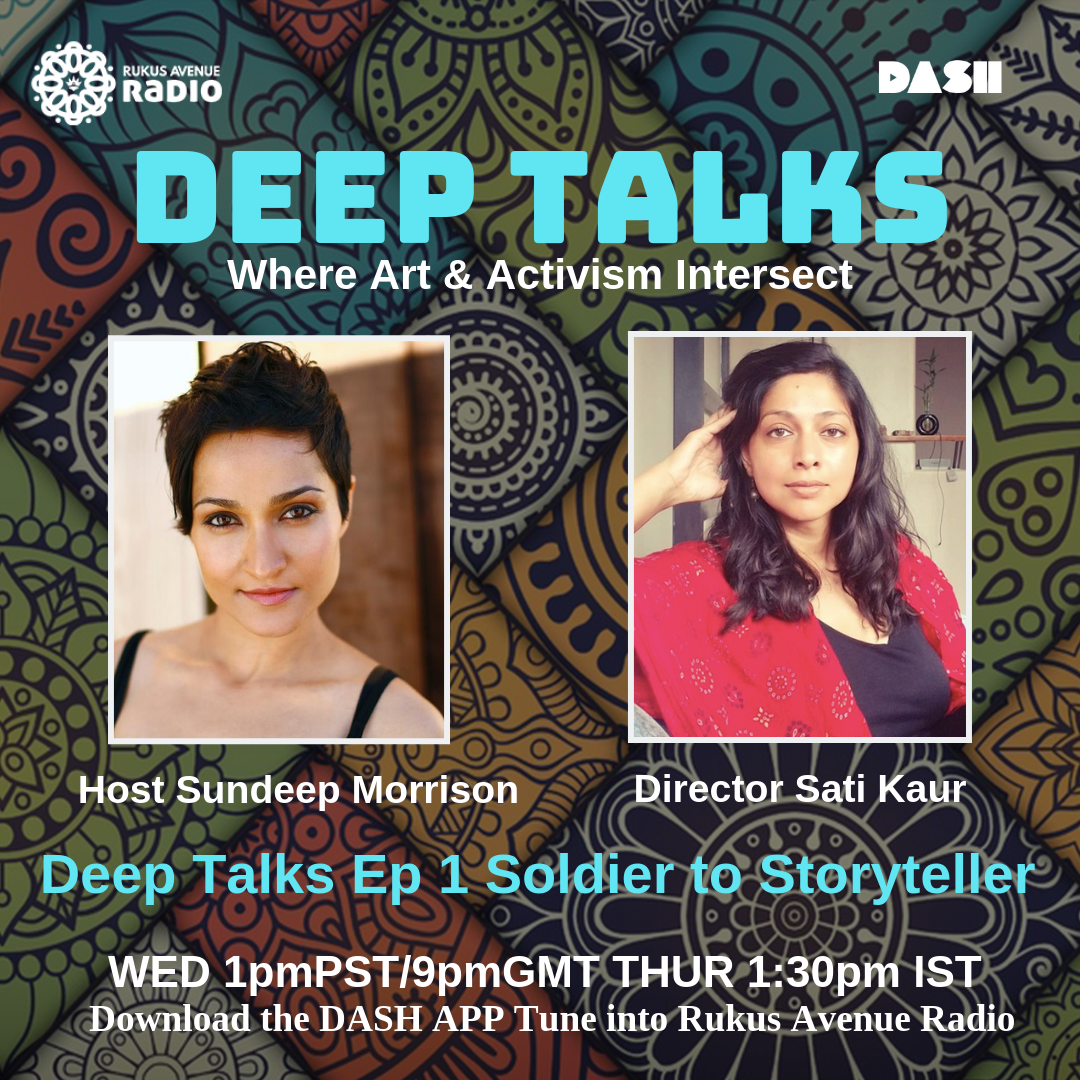 Deep Talks Episode 1 - Soldier to Storyteller Guest Director Sati Kaurhttps://drive.google.com/file/d/1akq1SNkgfUaJivGQBieuqN4mSGDdUjuk/view