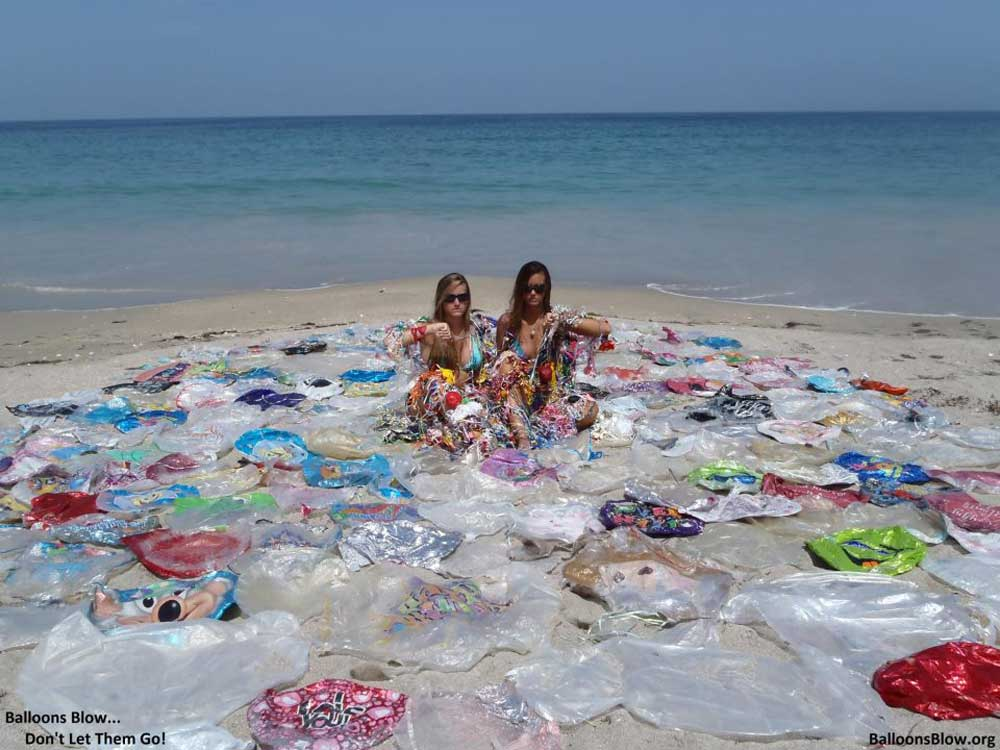 You want to see your beautiful beach filled with balloon? the answer is big fat NO!