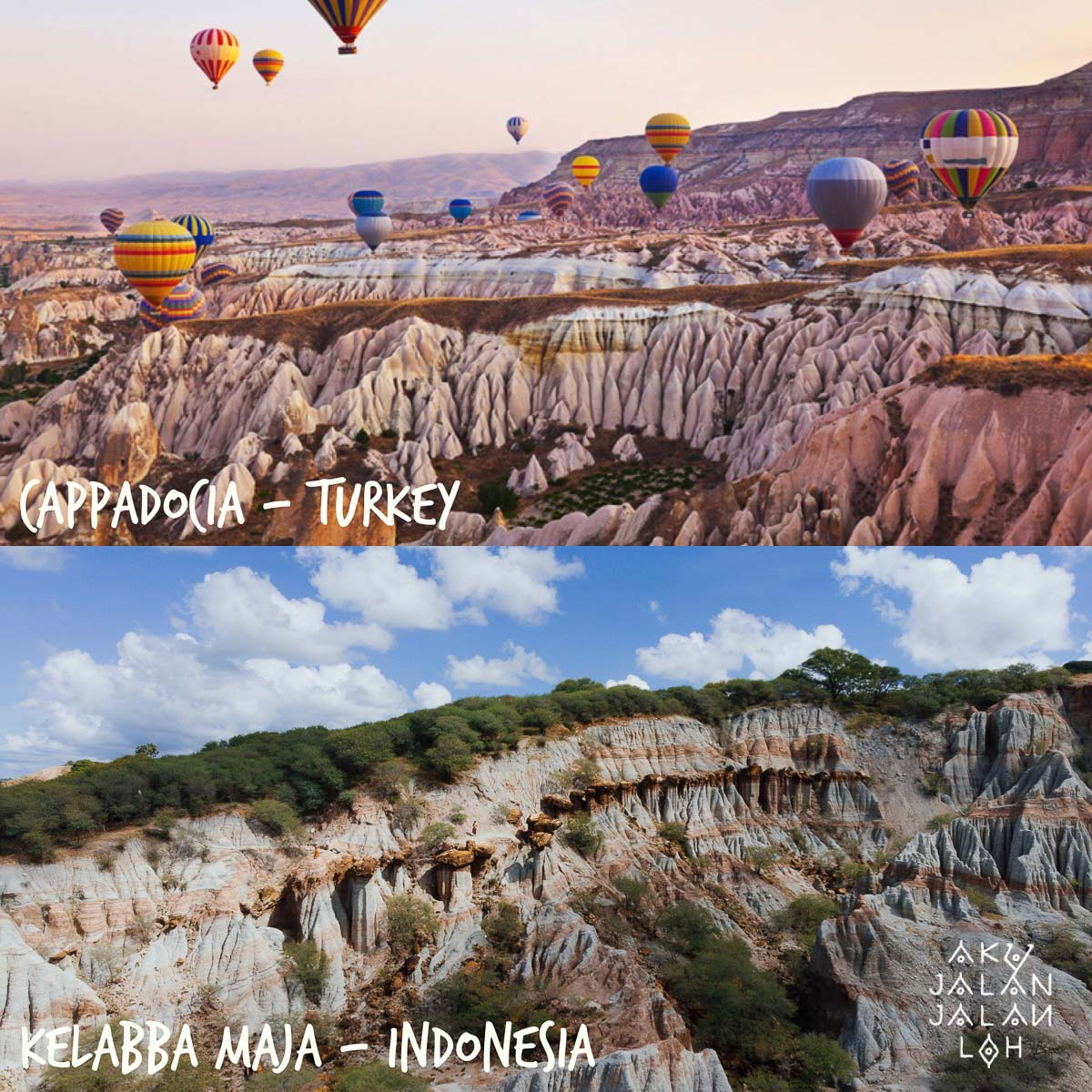 Mirip Cappadocia kaga ni?