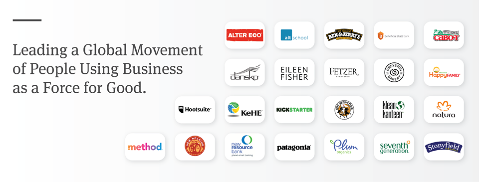 Leading a global movement of people using business as a force for good.