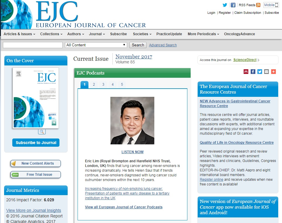 In the press — Eric Lim - Thoracic Surgeon