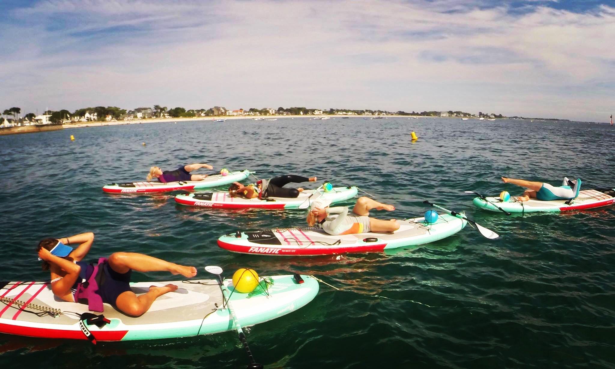Cours de Paddle Yoga - by Rozenn à L'Ecole Océane à Saint-Philibert et SNTA Locmariaquer