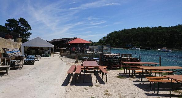 Nous poussons aussi un peu les tables et on regarde la mer en pratiquant . Au Rythme des marées Baden