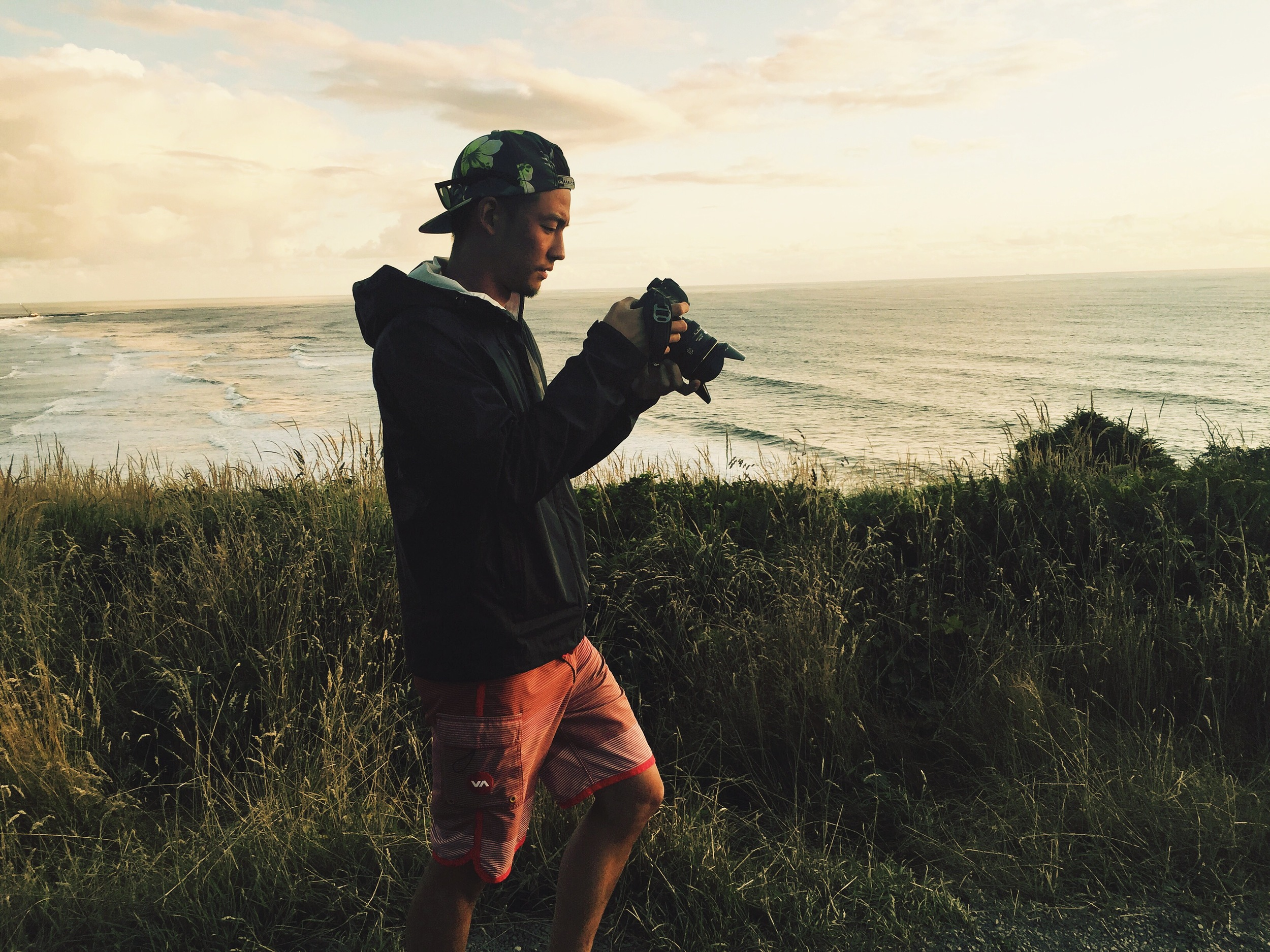 Looking at a shot during a camping trip along the Washington coast, USA.   Photo by Chandler Audette