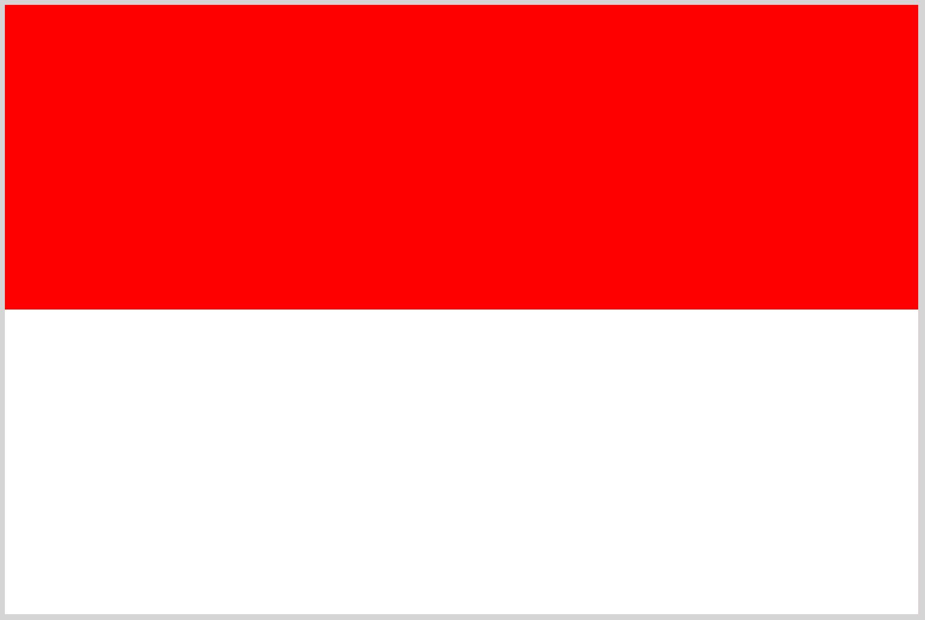 By drawing: User:SKopp - statute: Undang-Undang Republik Indonesia Nomor 24 Tahun 2009 (WikisourcePDF), Public Domain,  https://commons.wikimedia.org/w/index.php?curid=343610