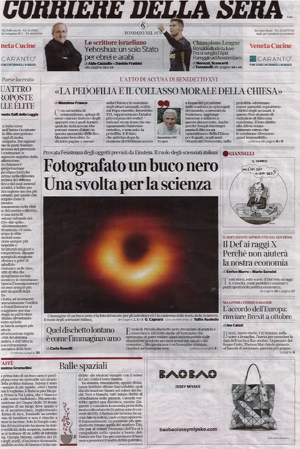 TP_Corriere della sera_cover_April 11th 2019.JPG