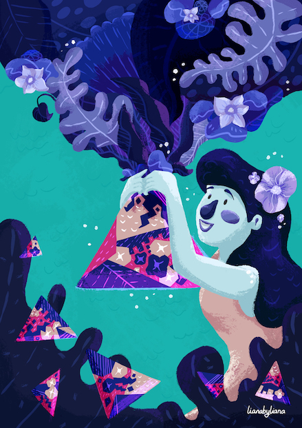 Human △ Nature : illustrated by Liana Wright